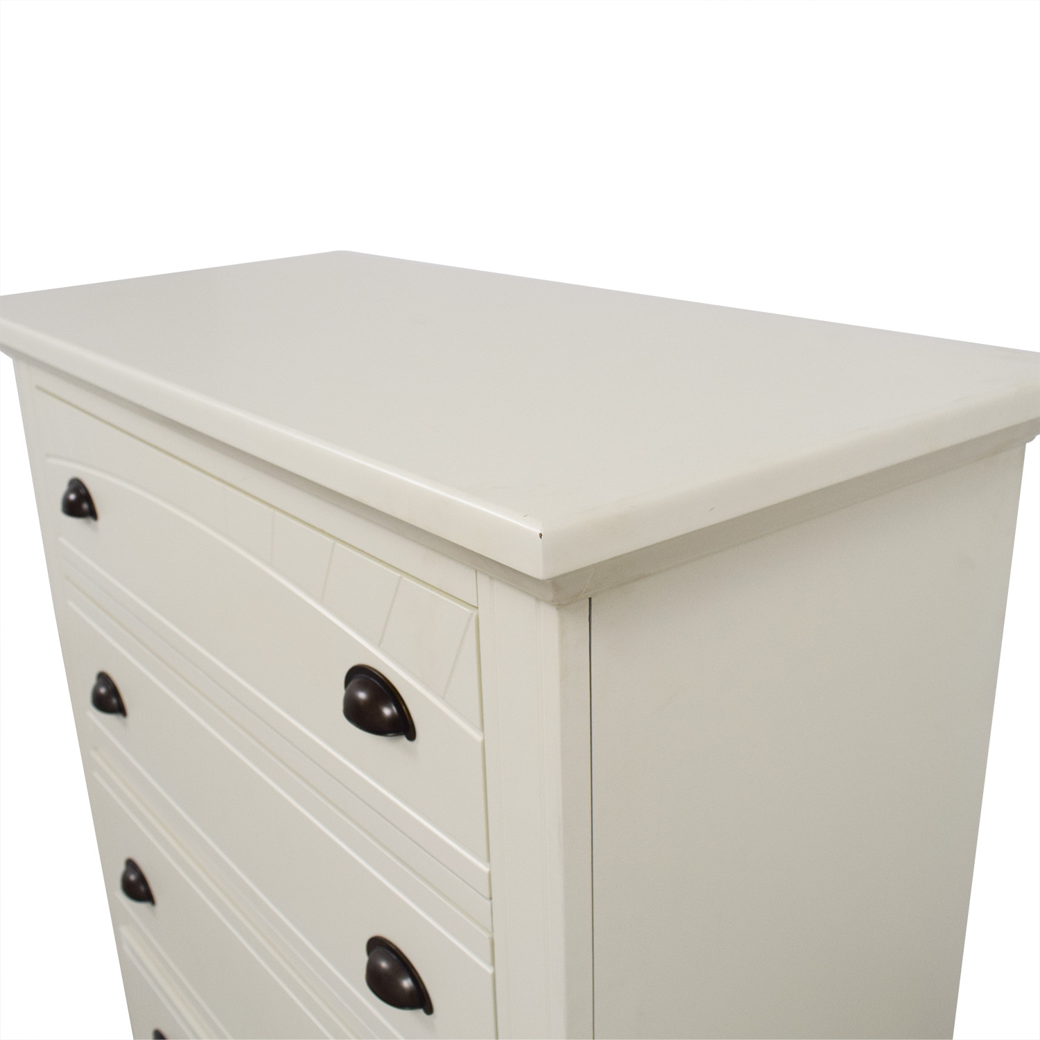 Bobs Furniture Bobs Furniture White Five-Drawer Chest discount