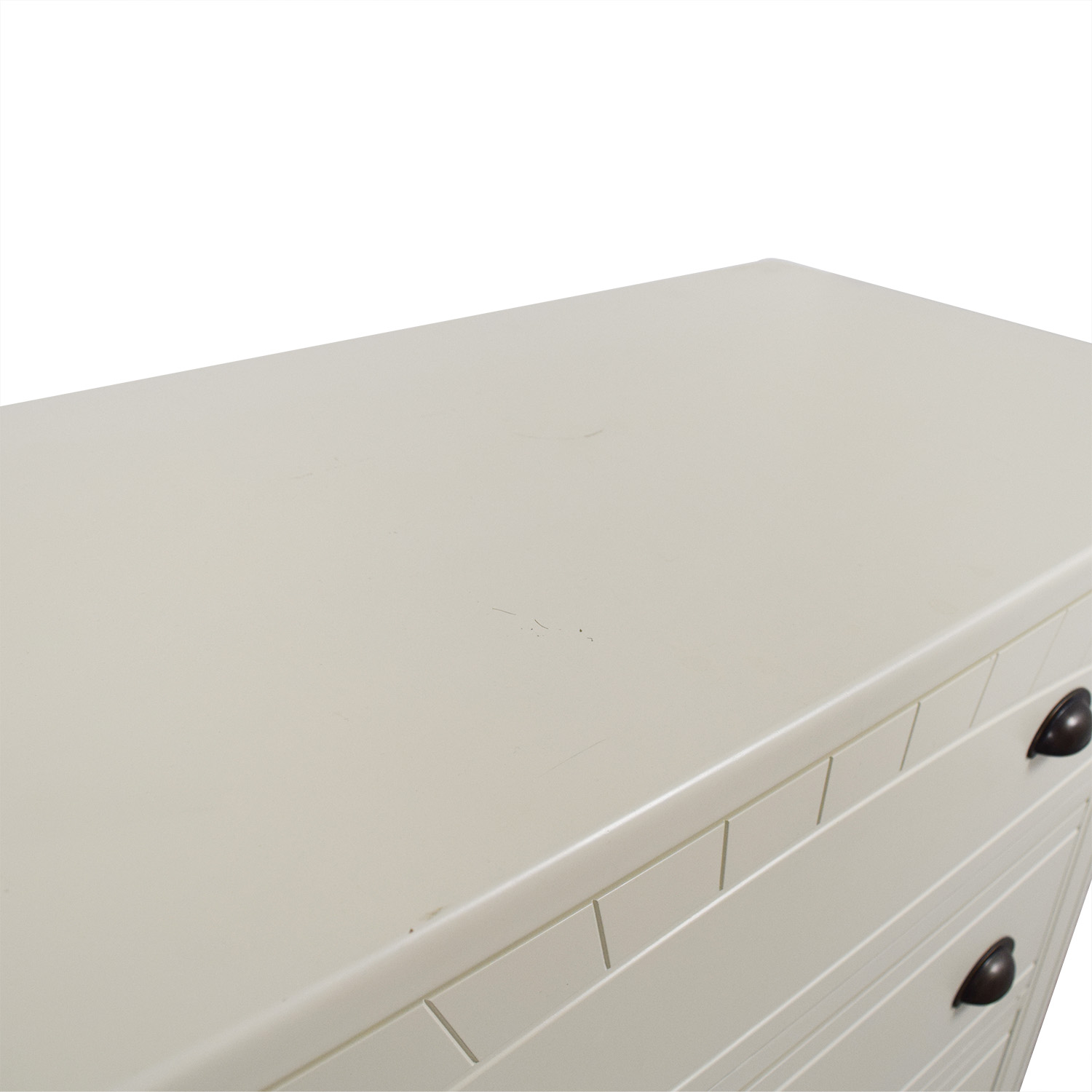 Bobs Furniture Bobs Furniture White Five-Drawer Chest nyc