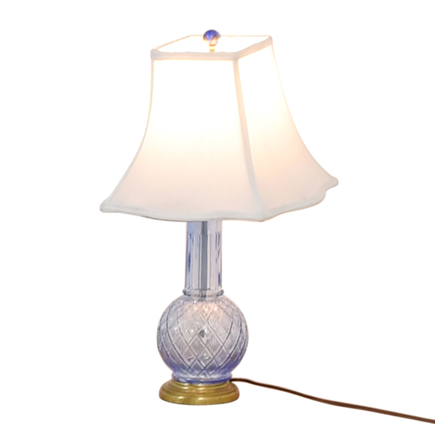 shop Blue Glass Lamp Decor