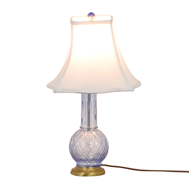 Blue Glass Lamp nyc