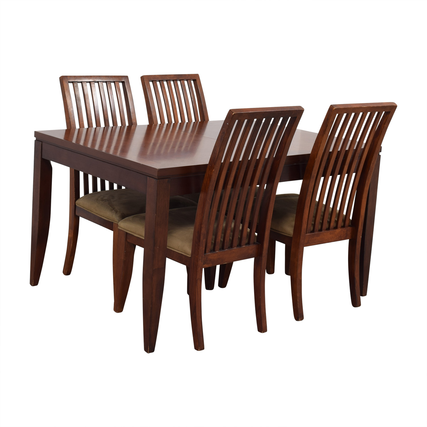 74 OFF   Macy's Macy's Wood Dining Set with Extendable ...