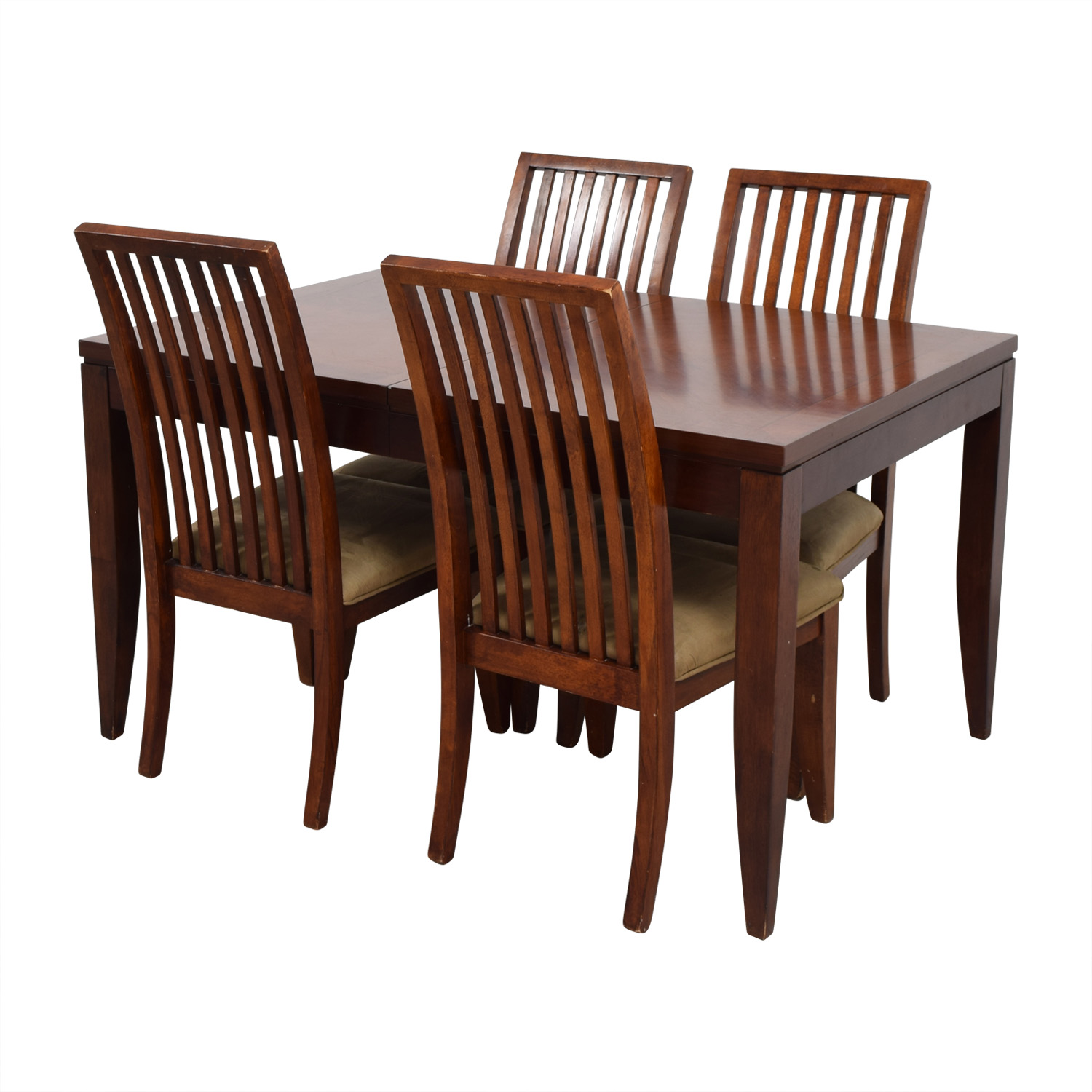 Macys Macys Wood Dining Set with Extendable Leaf and Chairs coupon