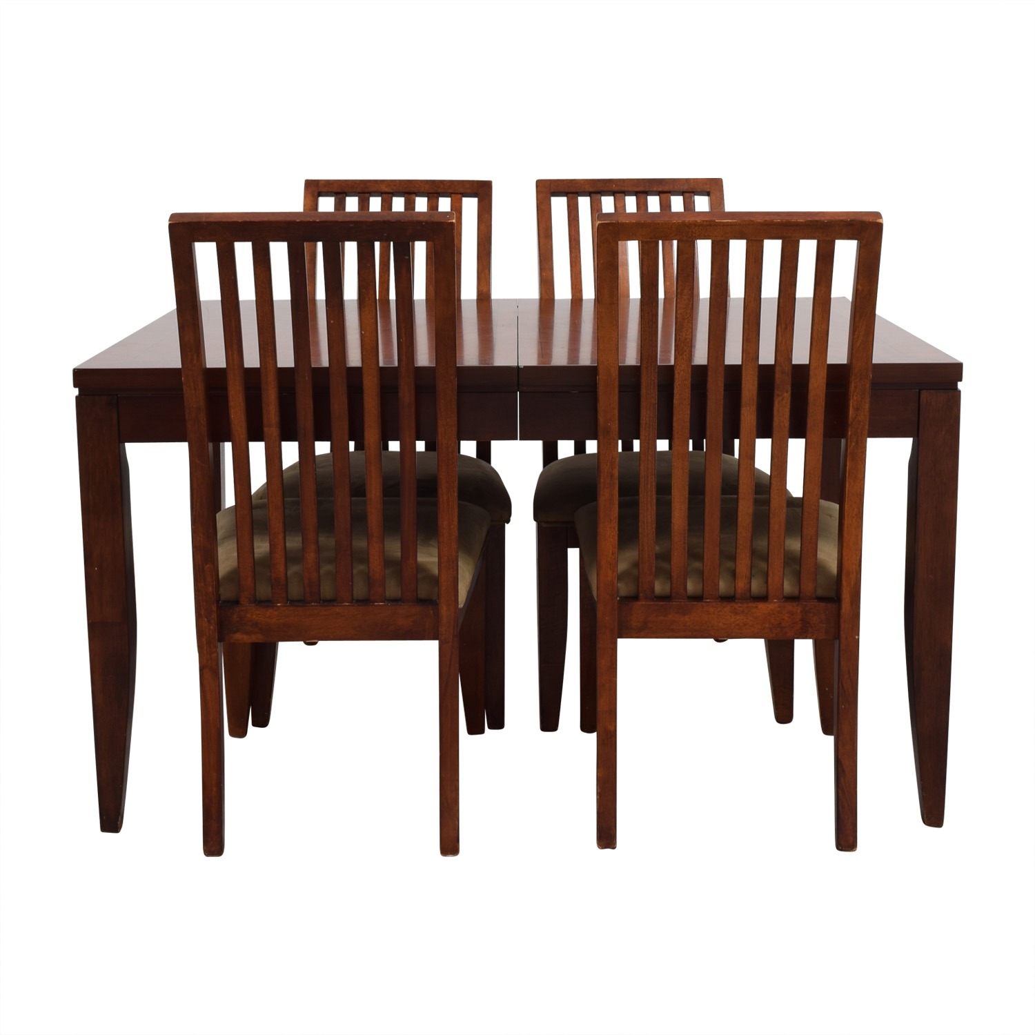 buy Macys Wood Dining Set with Extendable Leaf and Chairs Macys