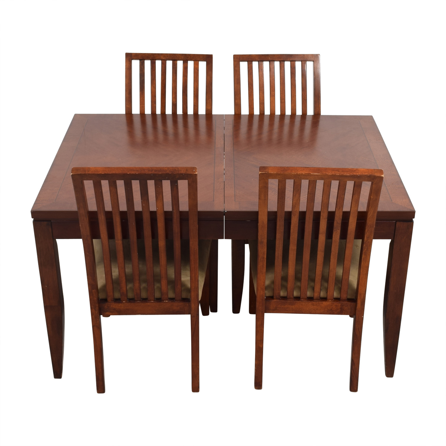 Macys Macys Wood Dining Set with Extendable Leaf and Chairs Dining Sets