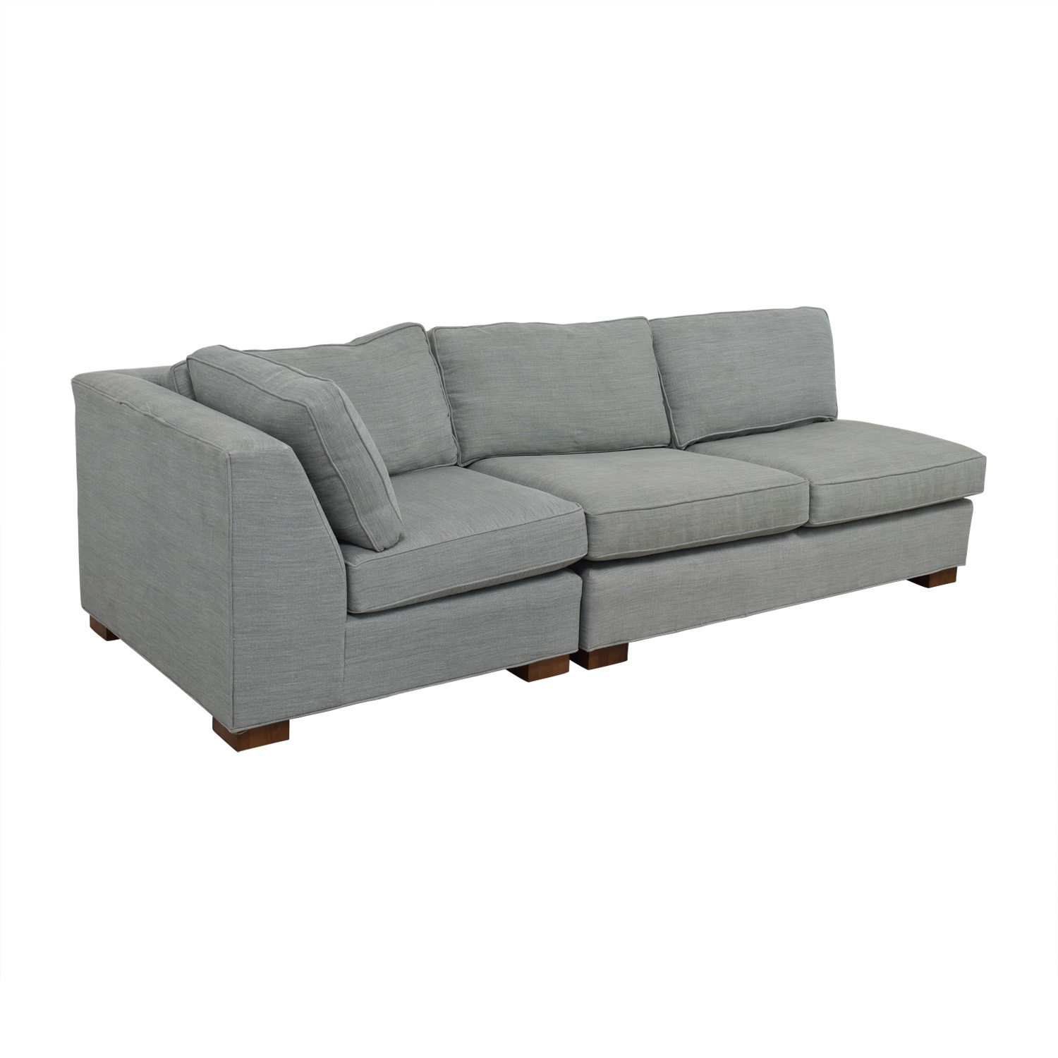 Mitchell Gold + Bob Williams Mitchell Gold + Bob Williams Gray Three-Cushion One Armed Sofa price