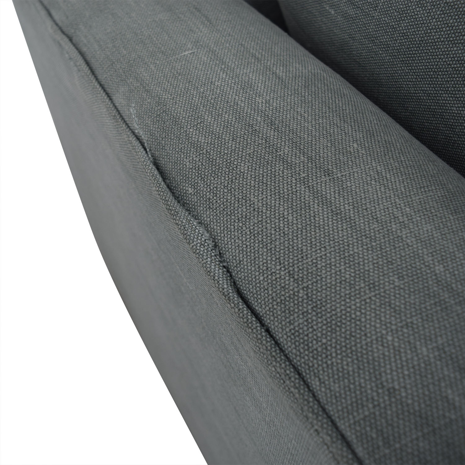 Mitchell Gold + Bob Williams Mitchell Gold + Bob Williams Gray Three-Cushion One Armed Sofa grey