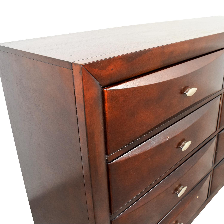 shop Dark Wood Eight-Drawer Dresser