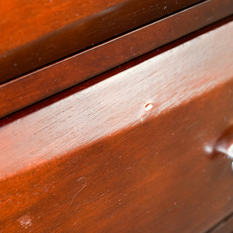 Dark Wood Eight-Drawer Dresser for sale