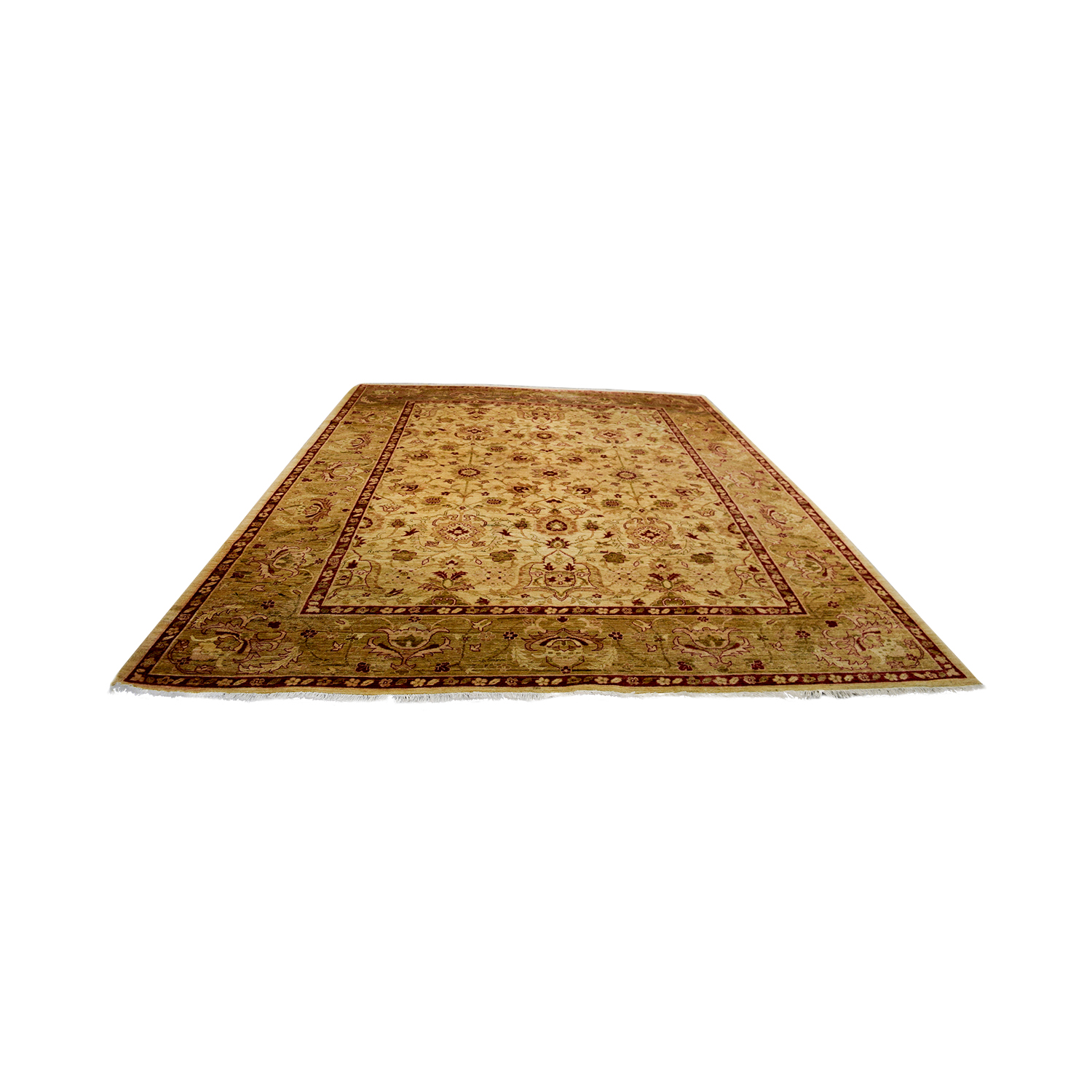 Stani Red And Beige Wool Rug