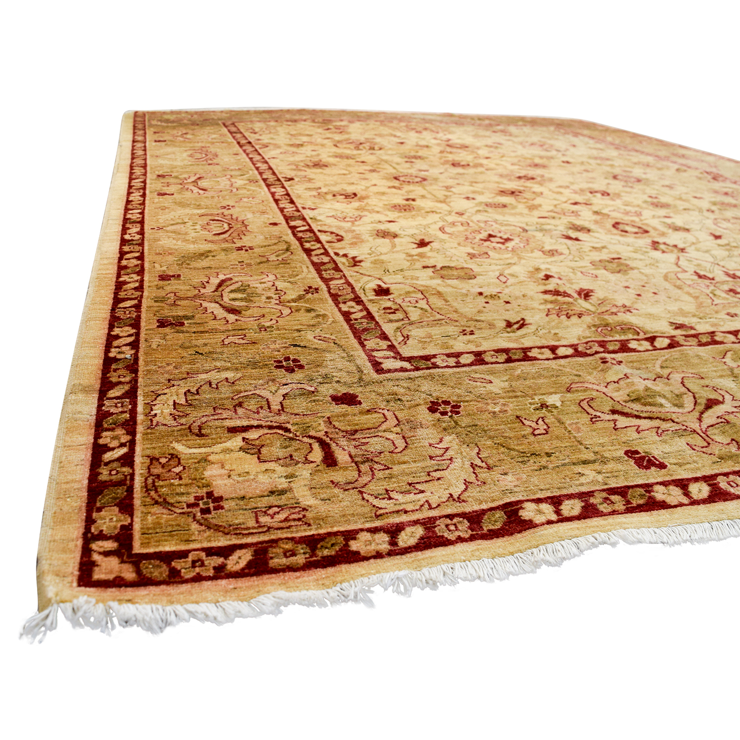 Pakistani Red and Beige Wool Rug discount