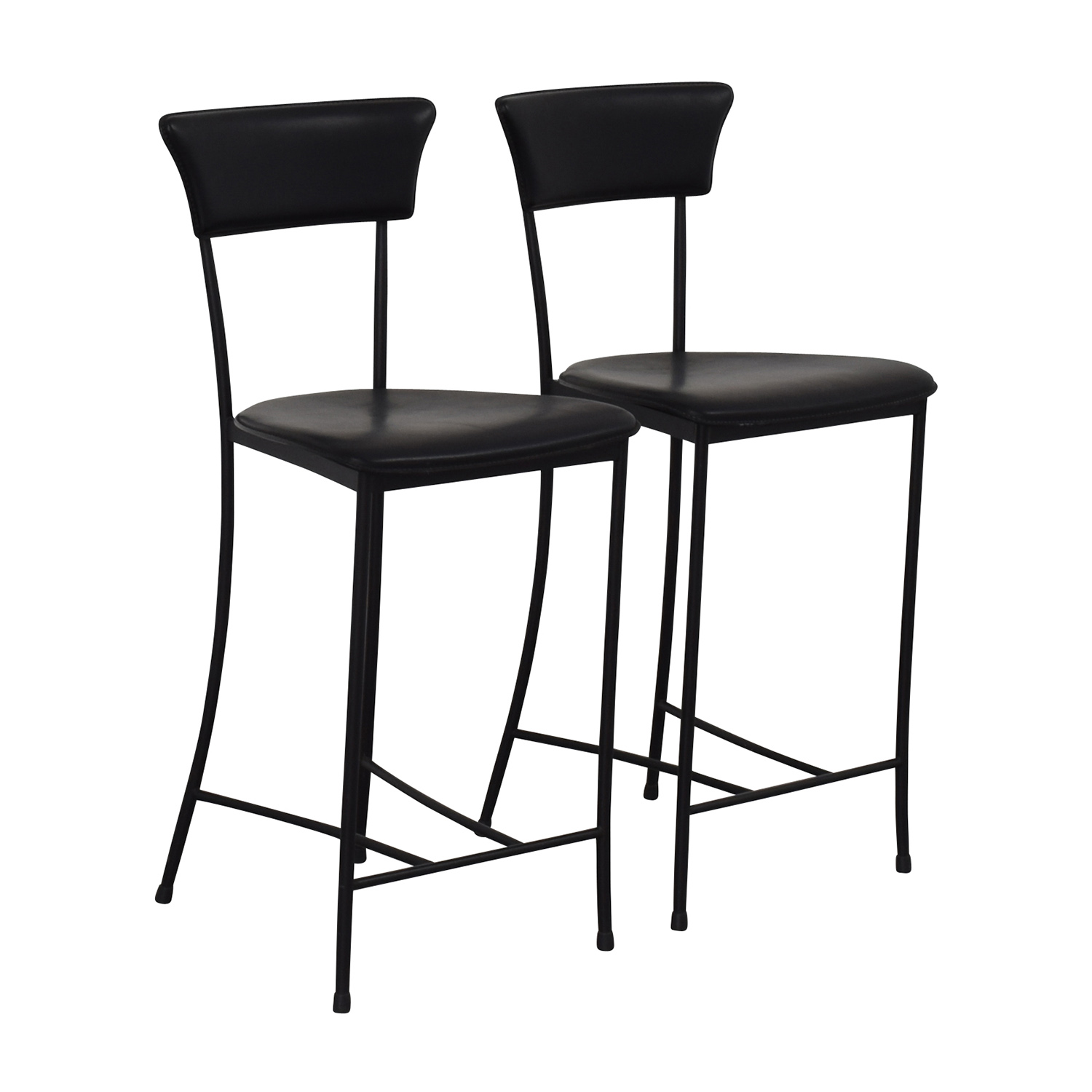 Black Leatherette Counter Height Chairs