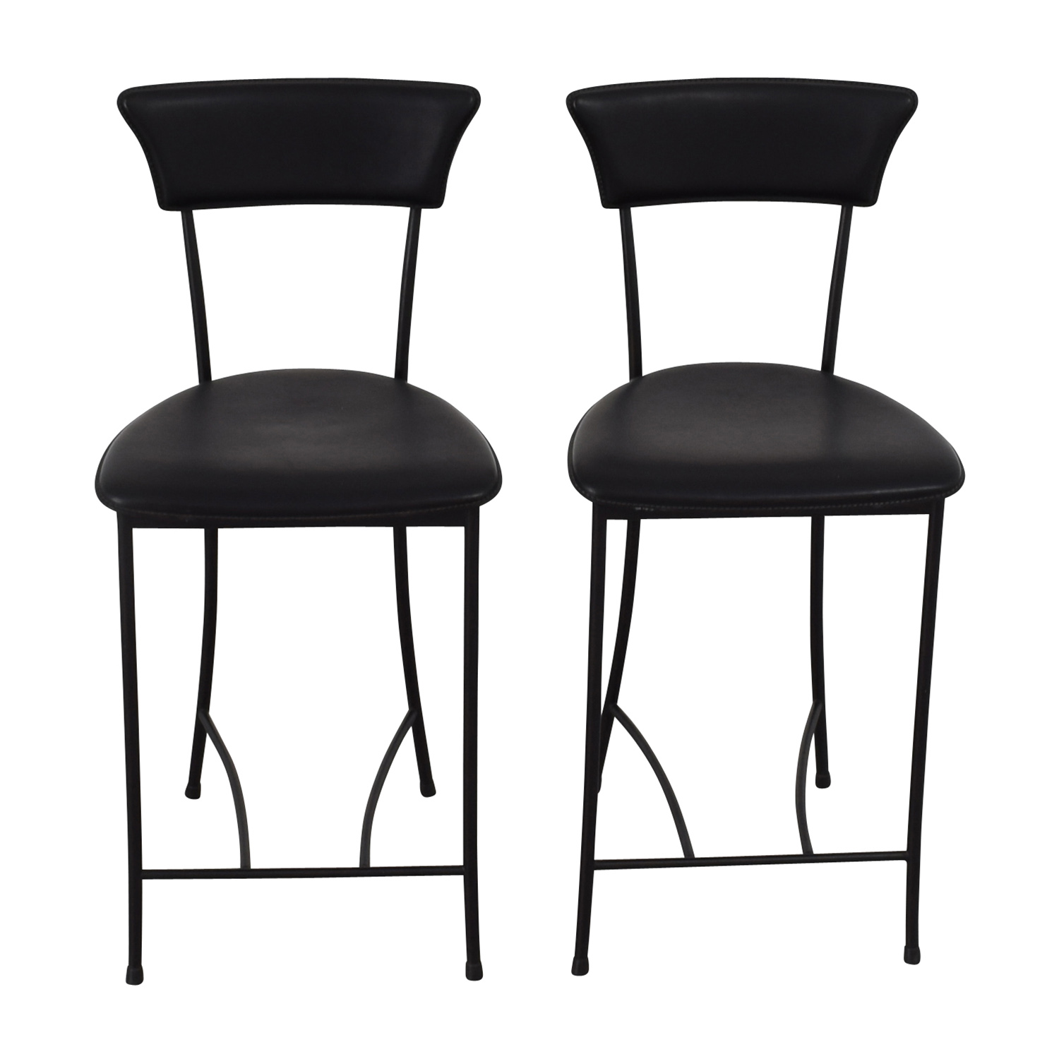 Black Leatherette Counter Height Chairs / Chairs