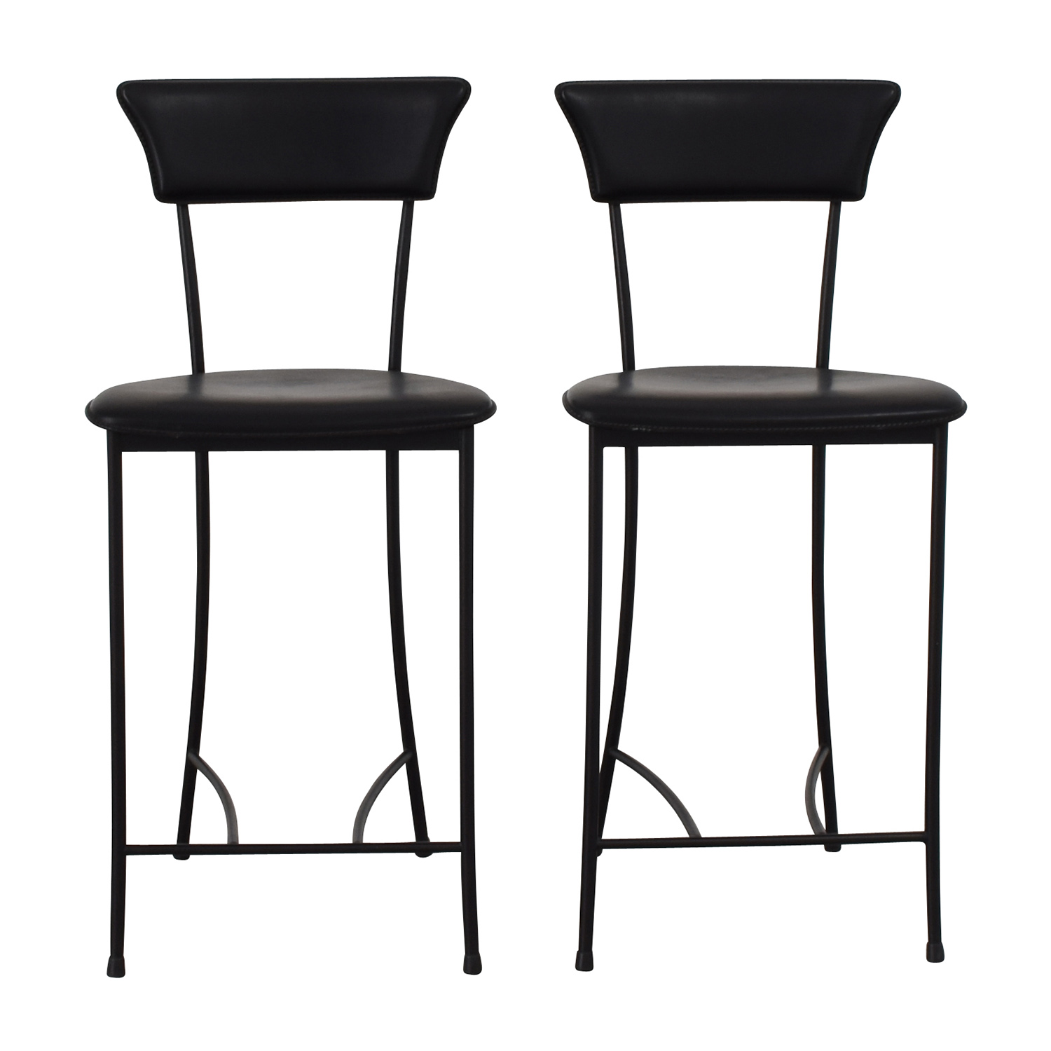 Black Leatherette Counter Height Chairs discount