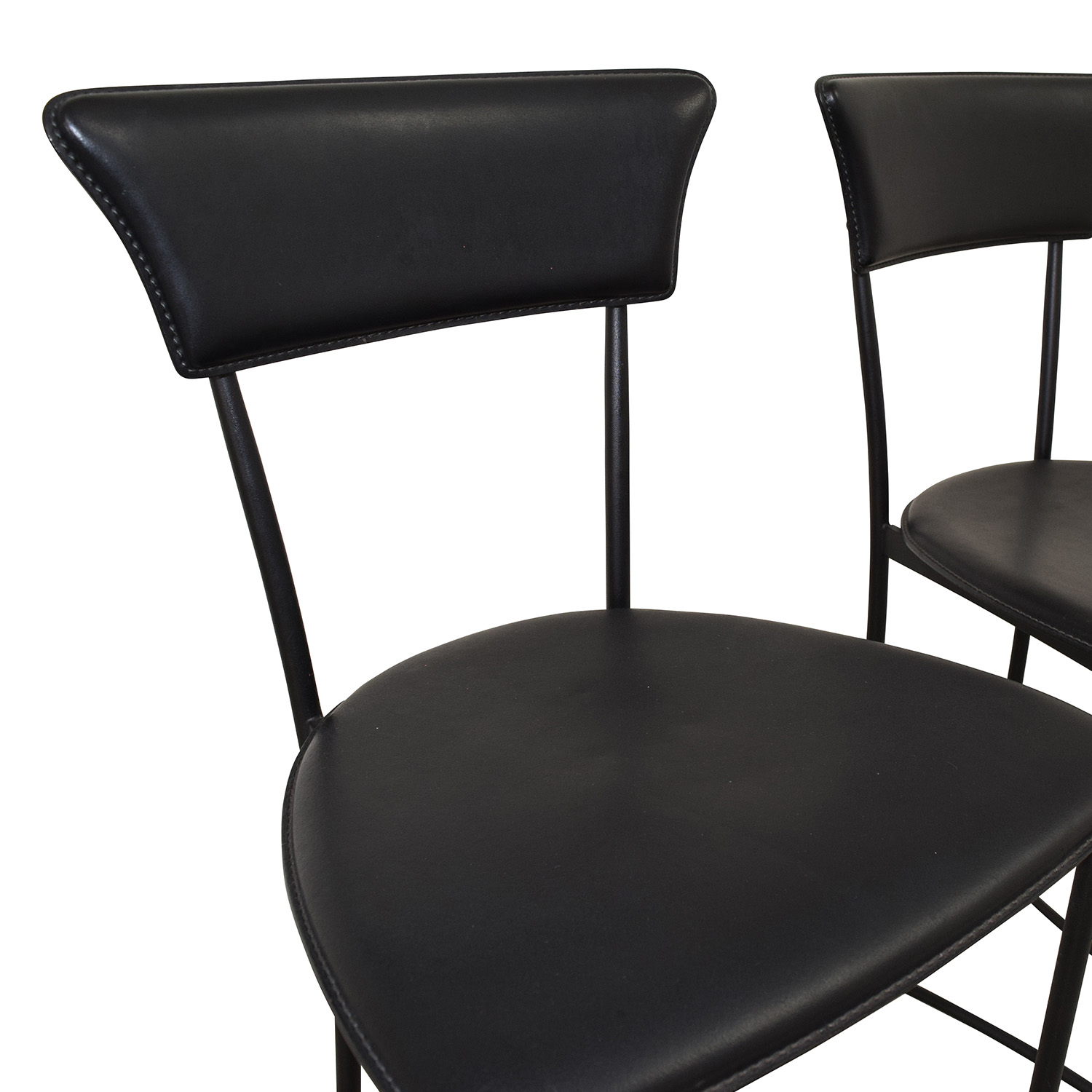 shop Black Leatherette Counter Height Chairs Stools