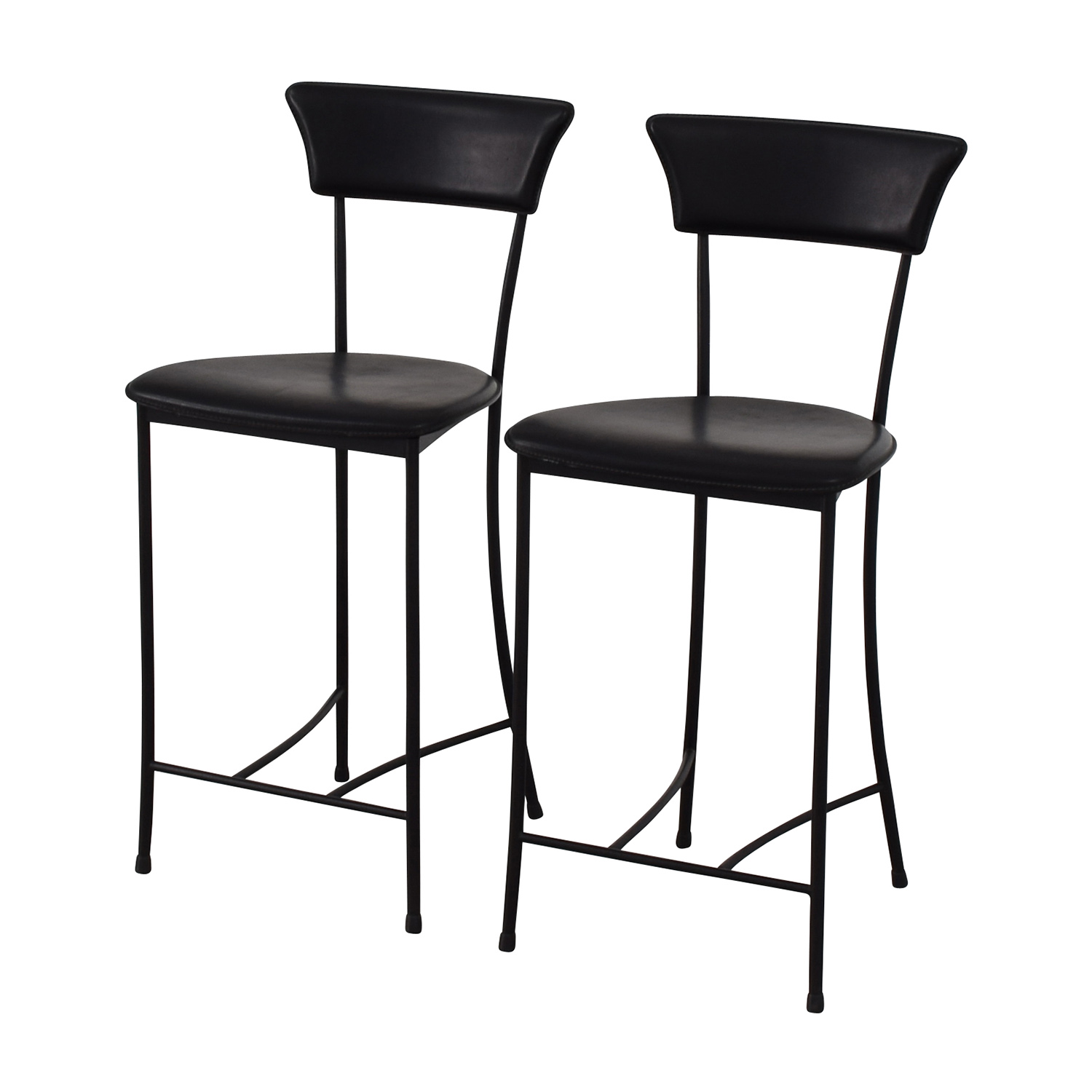 Black Leatherette Counter Height Chairs nj