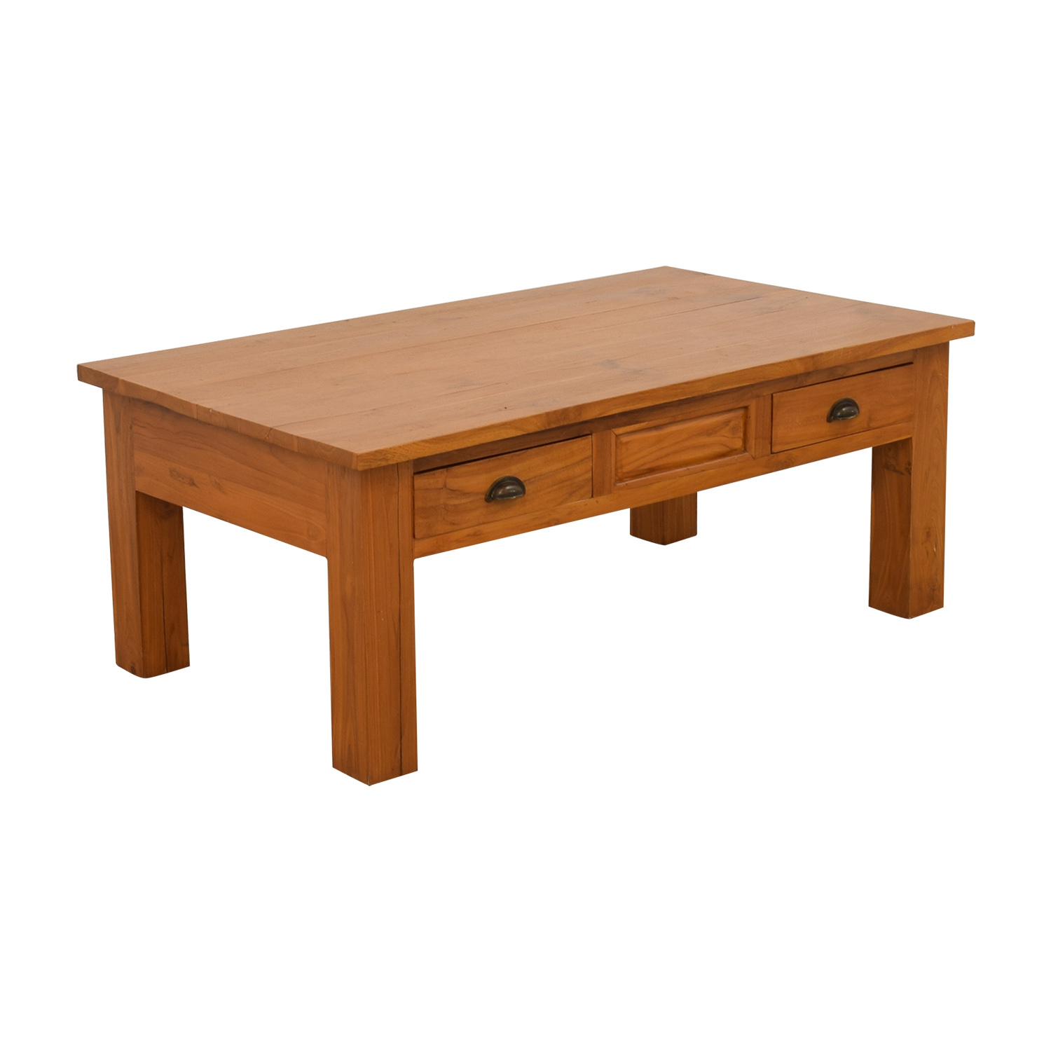 90 Off Balinese Teak Two Drawer Coffee Table Tables