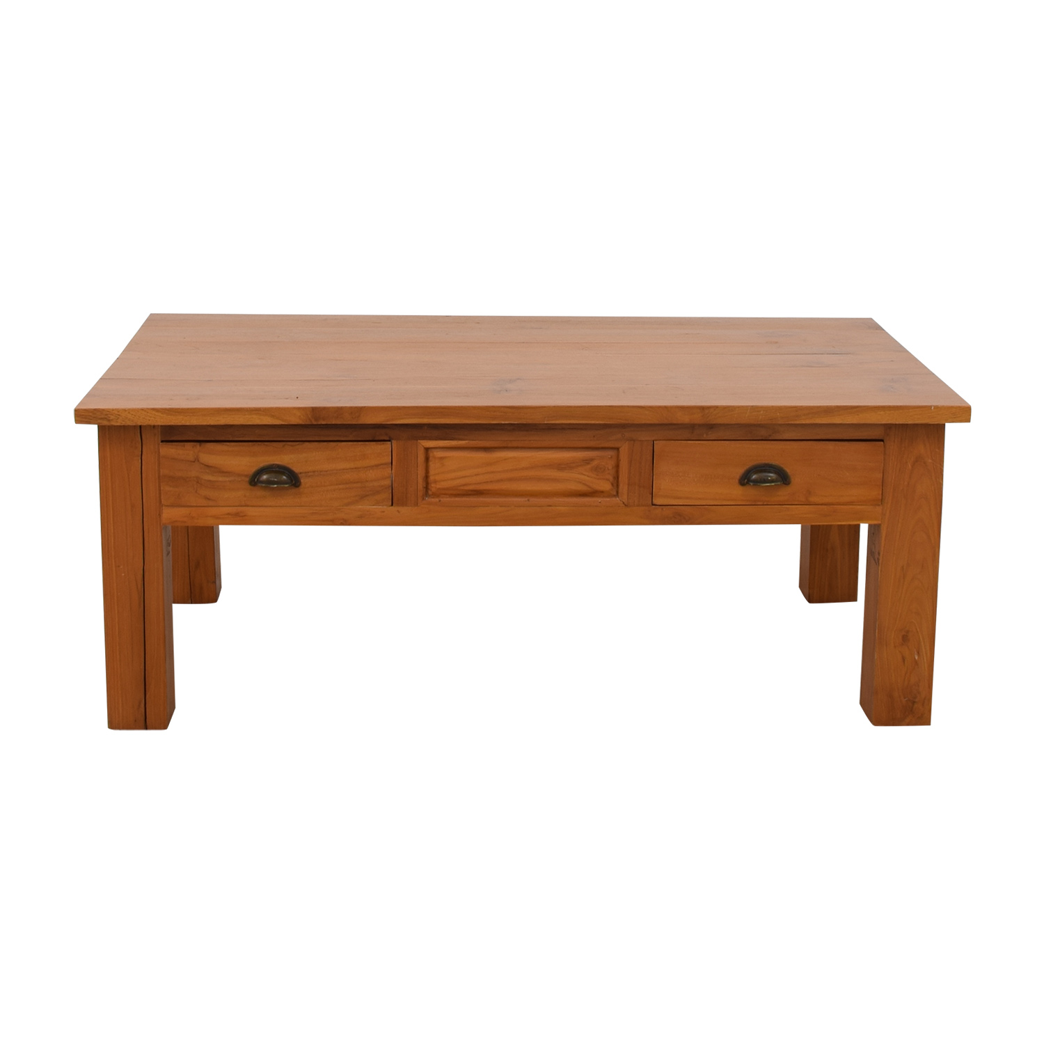 59% OFF Balinese Teak Two Drawer Coffee Table Tables