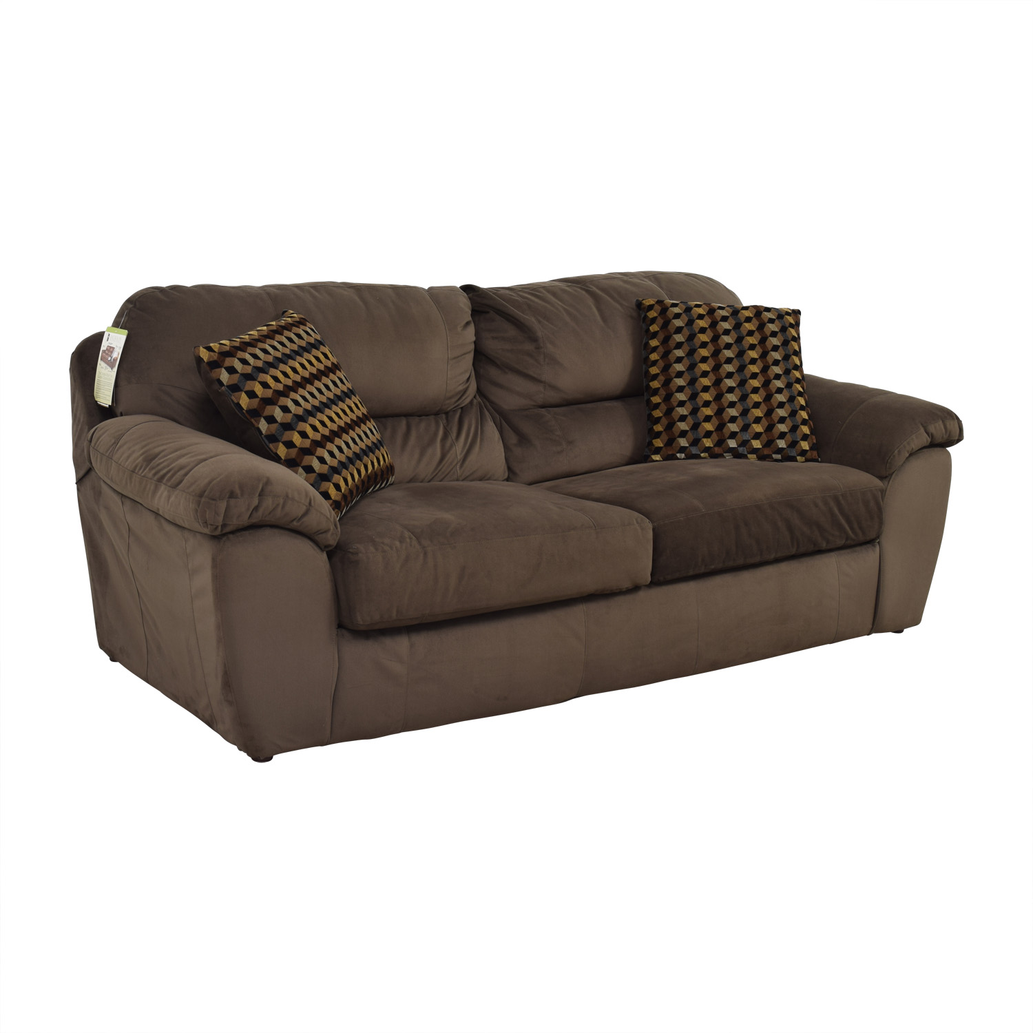 Bobs Furniture Bobs Furniture Brown Bailey Two-Cushion Sofa price