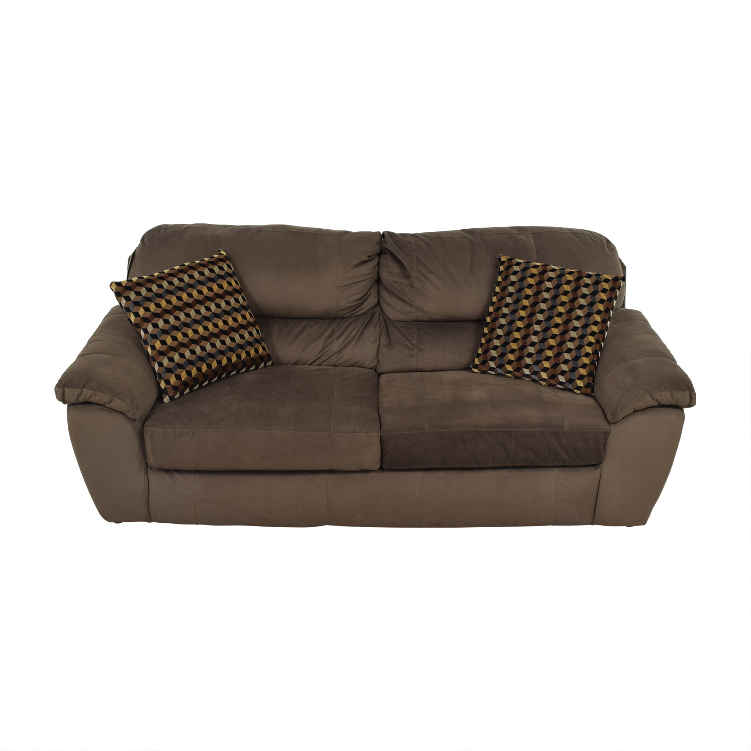 ... Bobs Furniture Bobs Furniture Brown Bailey Two Cushion Sofa For Sale ...