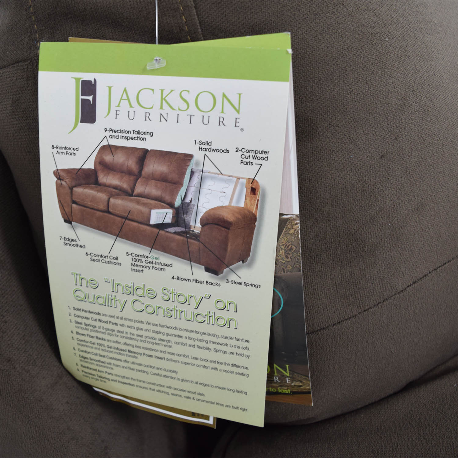 Bobs Furniture Bobs Furniture Brown Bailey Two-Cushion Sofa coupon