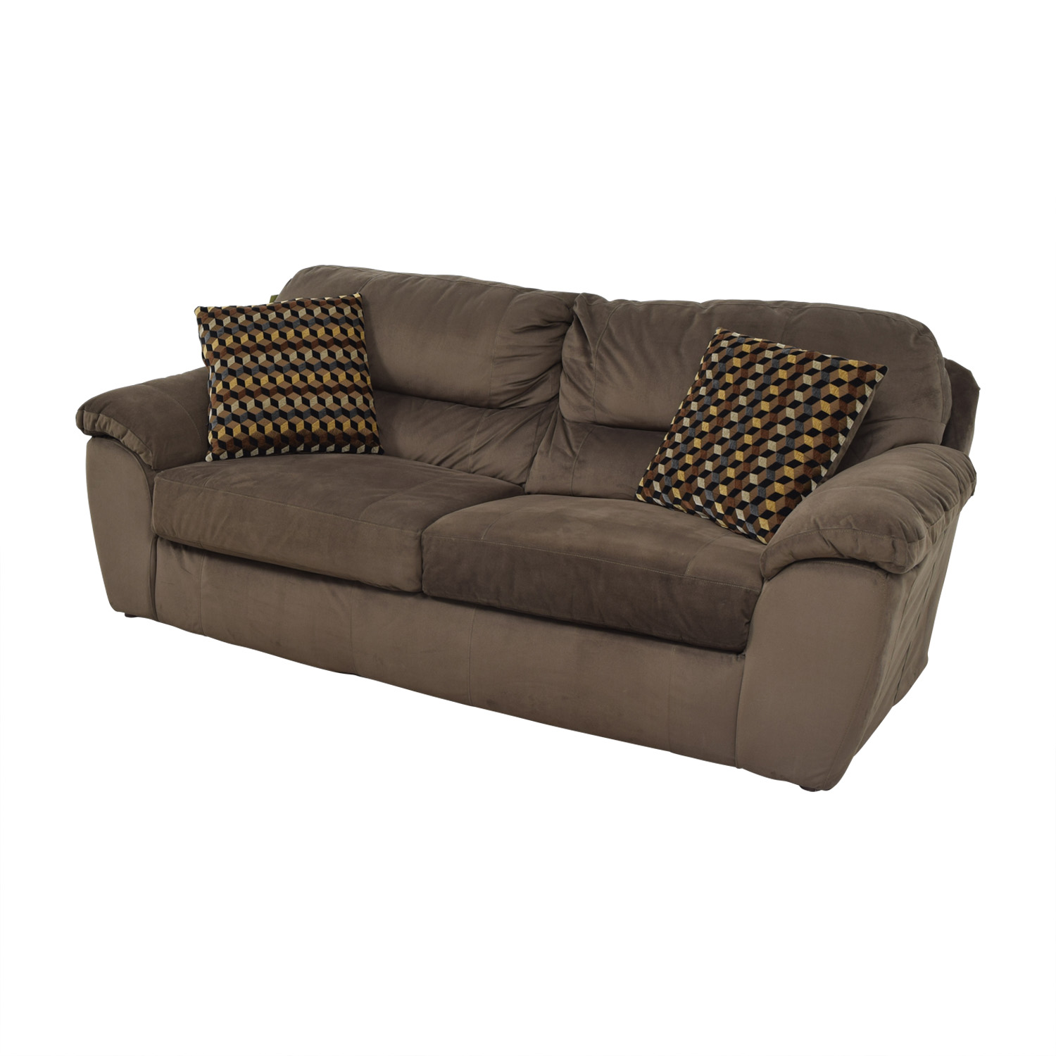 Bobs Furniture Bobs Furniture Brown Bailey Two-Cushion Sofa Sofas