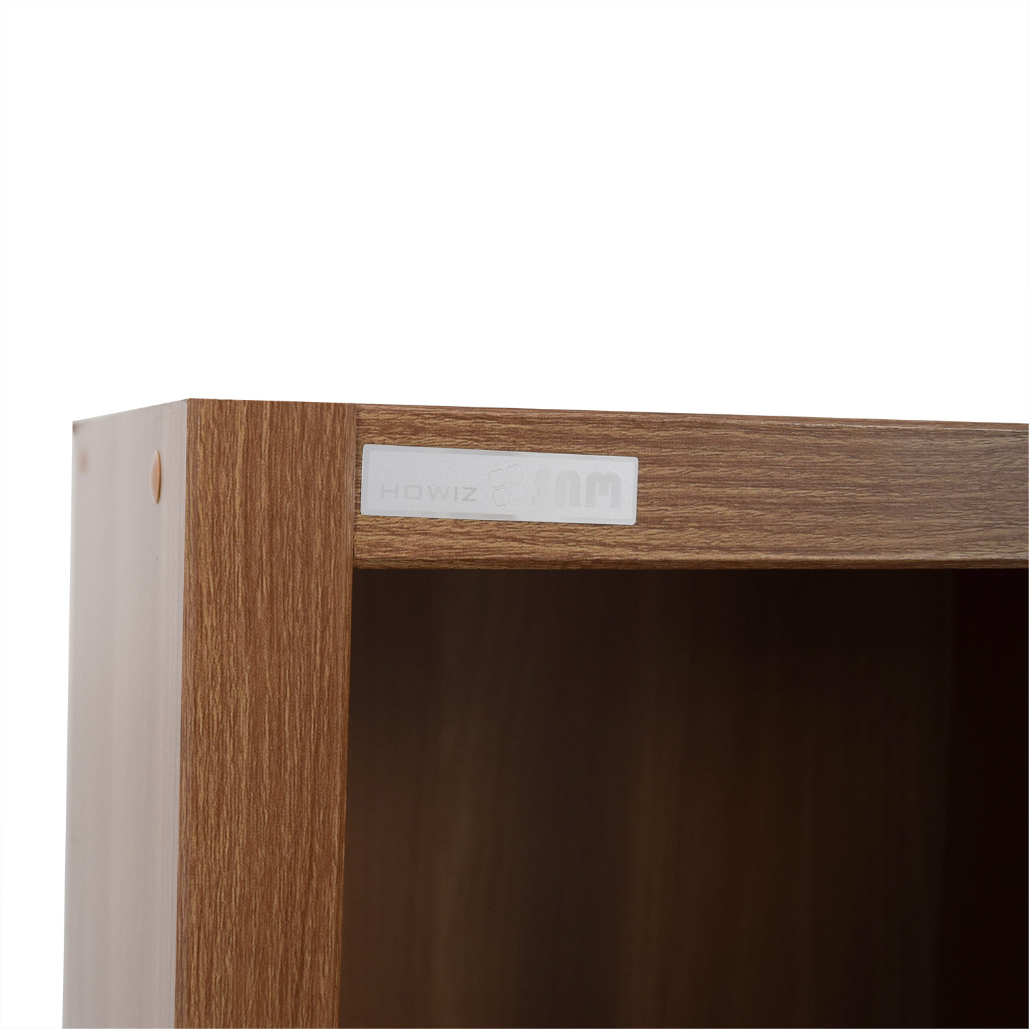 Hansaem Hansaem Natural Wood Bookshelf with Drawers and Storage second hand
