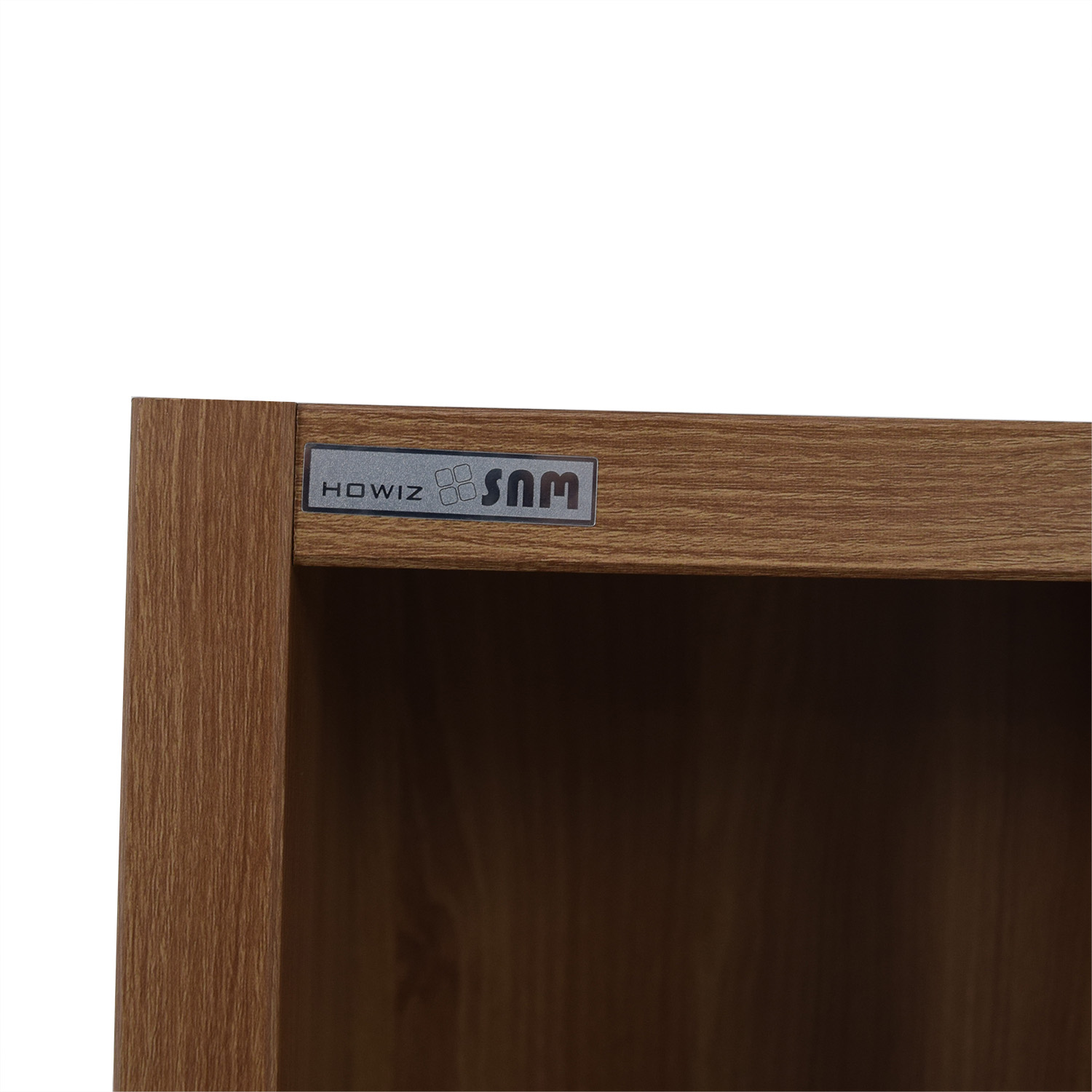 Hansaem Natural Wood Bookshelf with Drawers and Storage sale