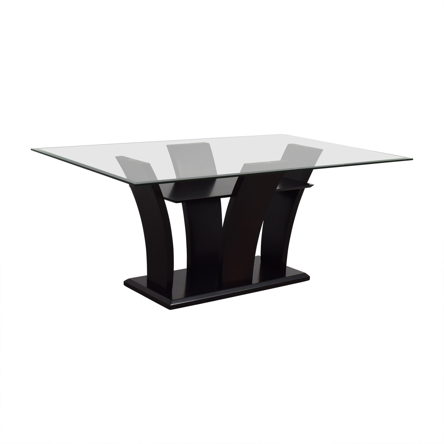 Mahogany Base Glass Top Dining Table price