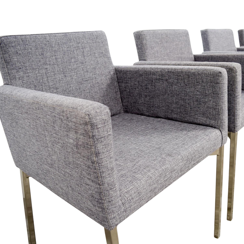 CB2 Gray Chairs CB2