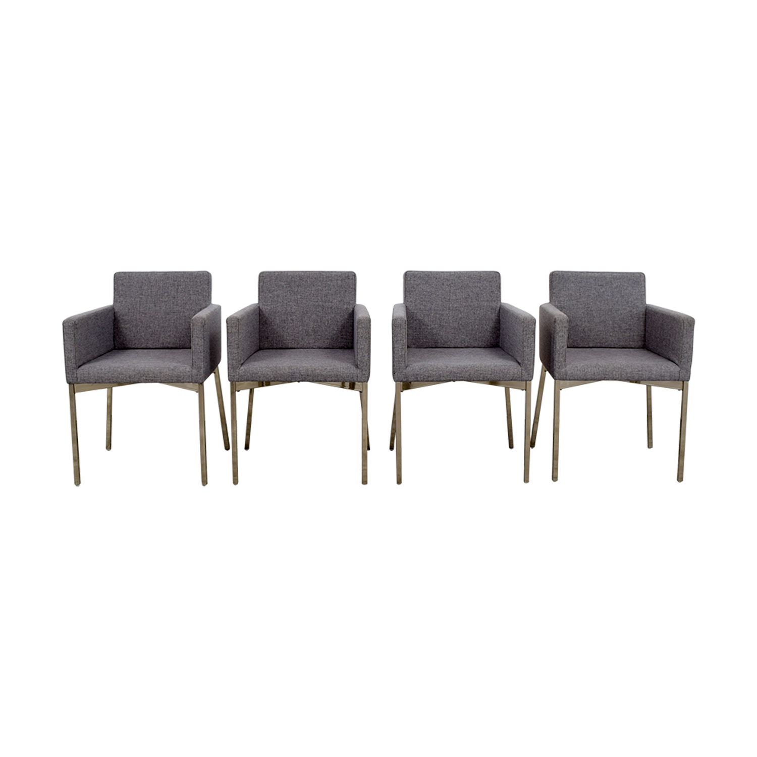 CB2 CB2 Gray Chairs used