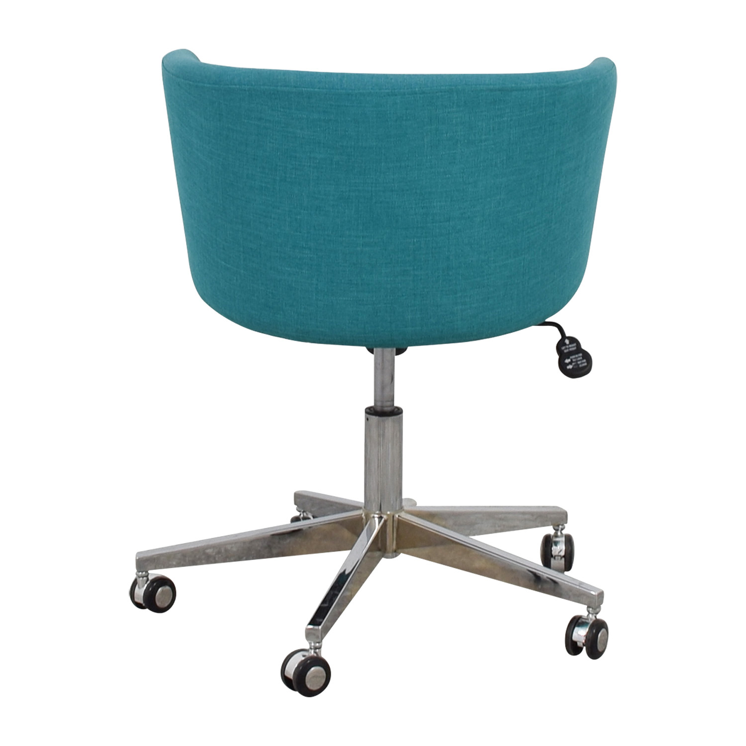 37% OFF CB2 CB2 Teal Desk Chair with Castors Chairs