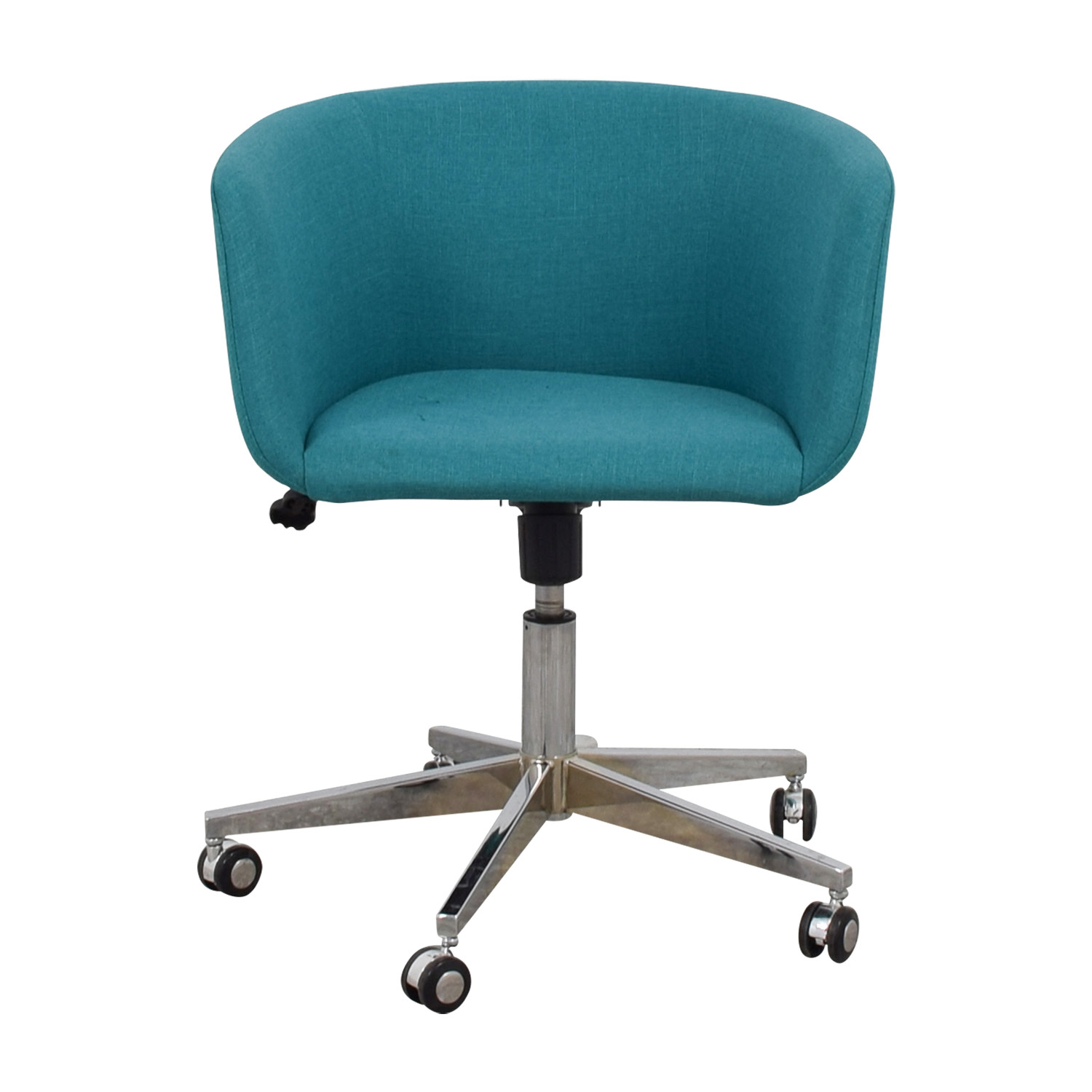 Cb2 Teal Desk Chair With Castors Nyc