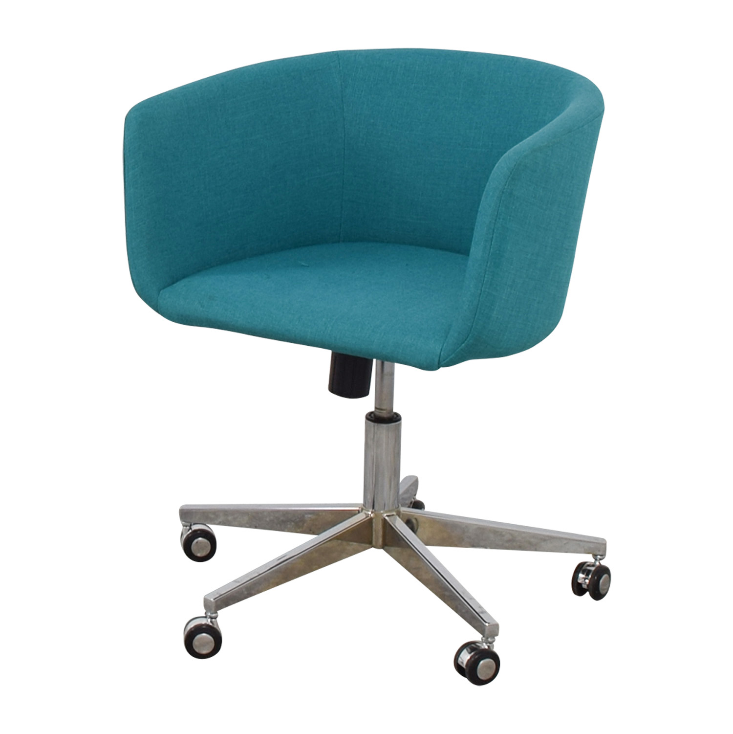 Charmant ... CB2 CB2 Teal Desk Chair With Castors Second Hand ...