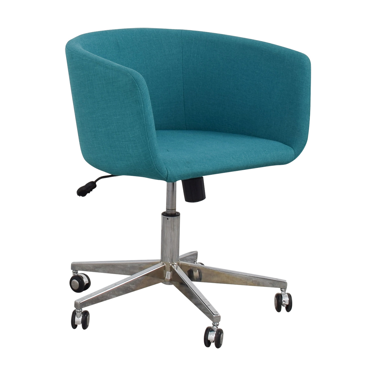 CB2 CB2 Teal Desk Chair with Castors nyc