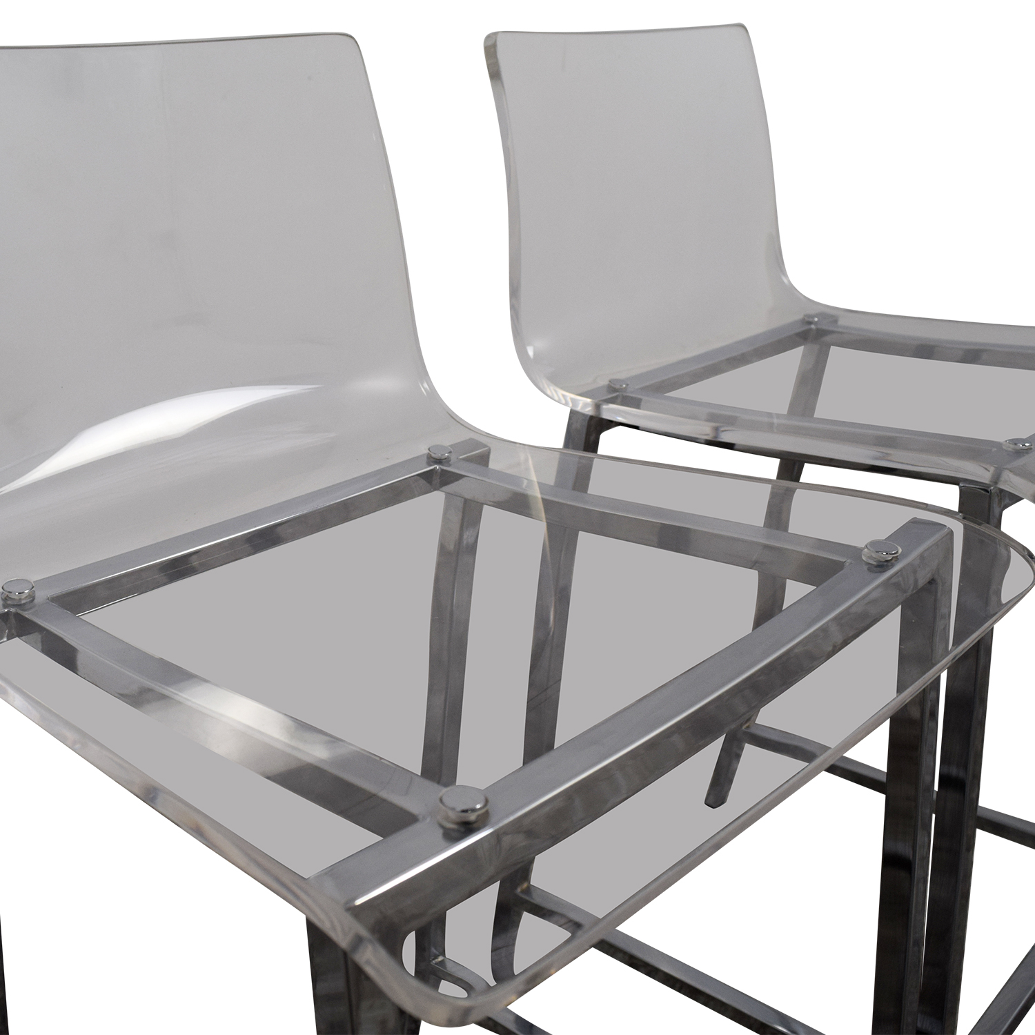 ... Stools Chairs; CB2 CB2 Clear Acrylic Bar Stools Dimensions ...
