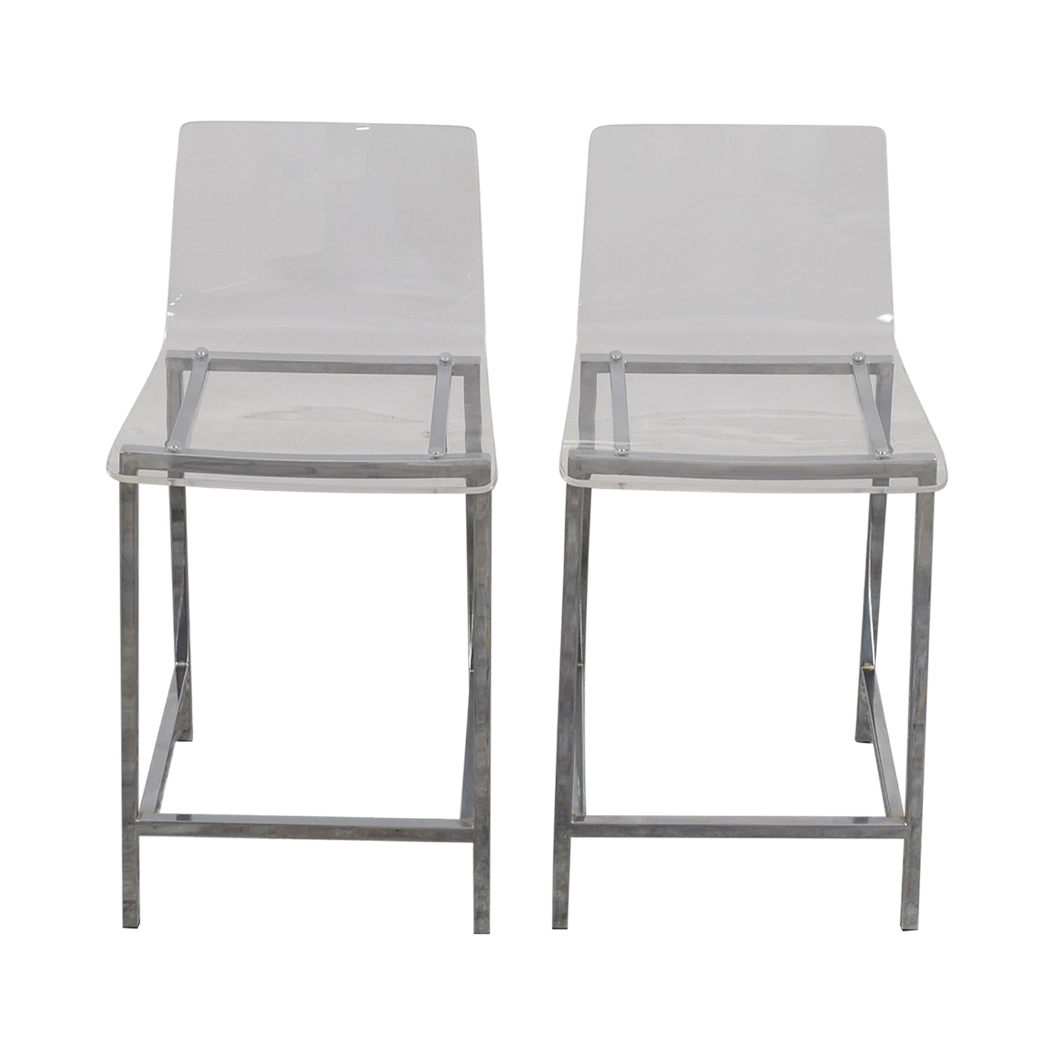 ... Shop CB2 CB2 Clear Acrylic Bar Stools Online ...