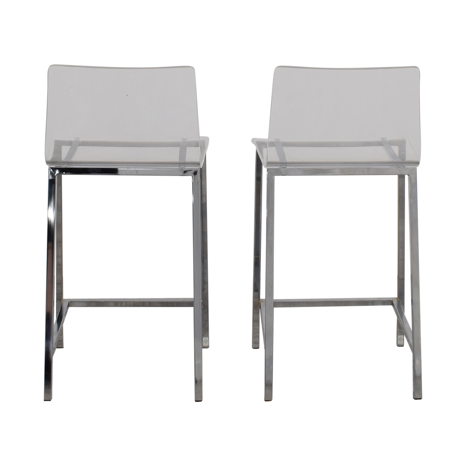 shop CB2 Clear Acrylic Bar Stools CB2