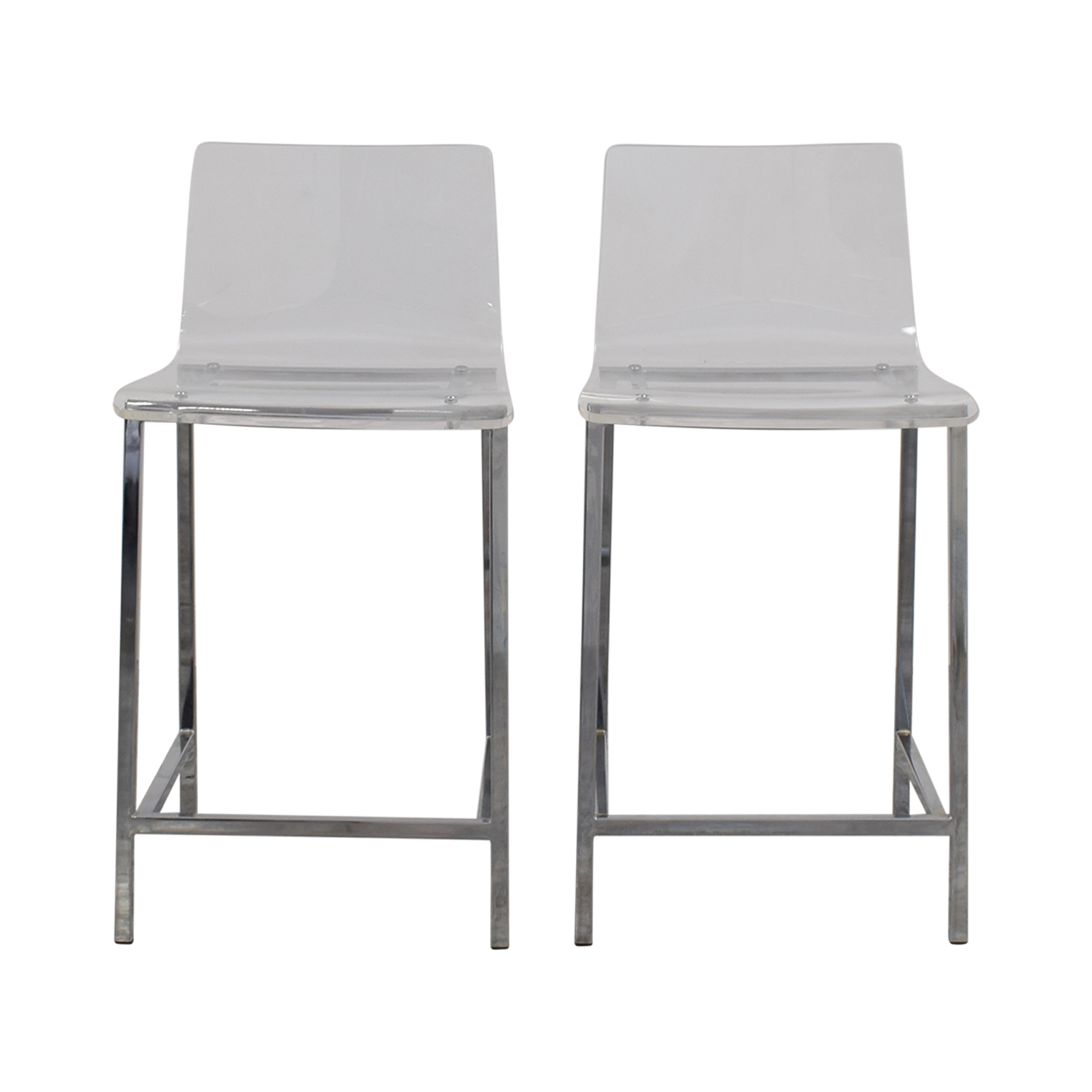 65 Off Cb2 Cb2 Clear Acrylic Bar Stools Chairs
