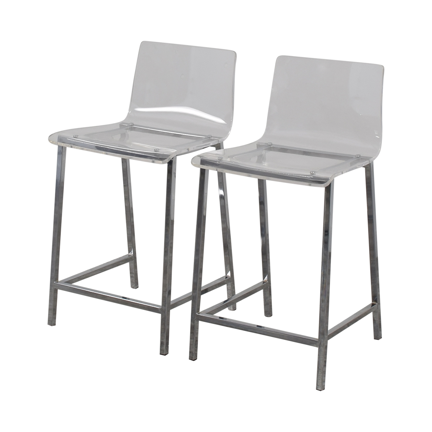 shop CB2 CB2 Clear Acrylic Bar Stools online