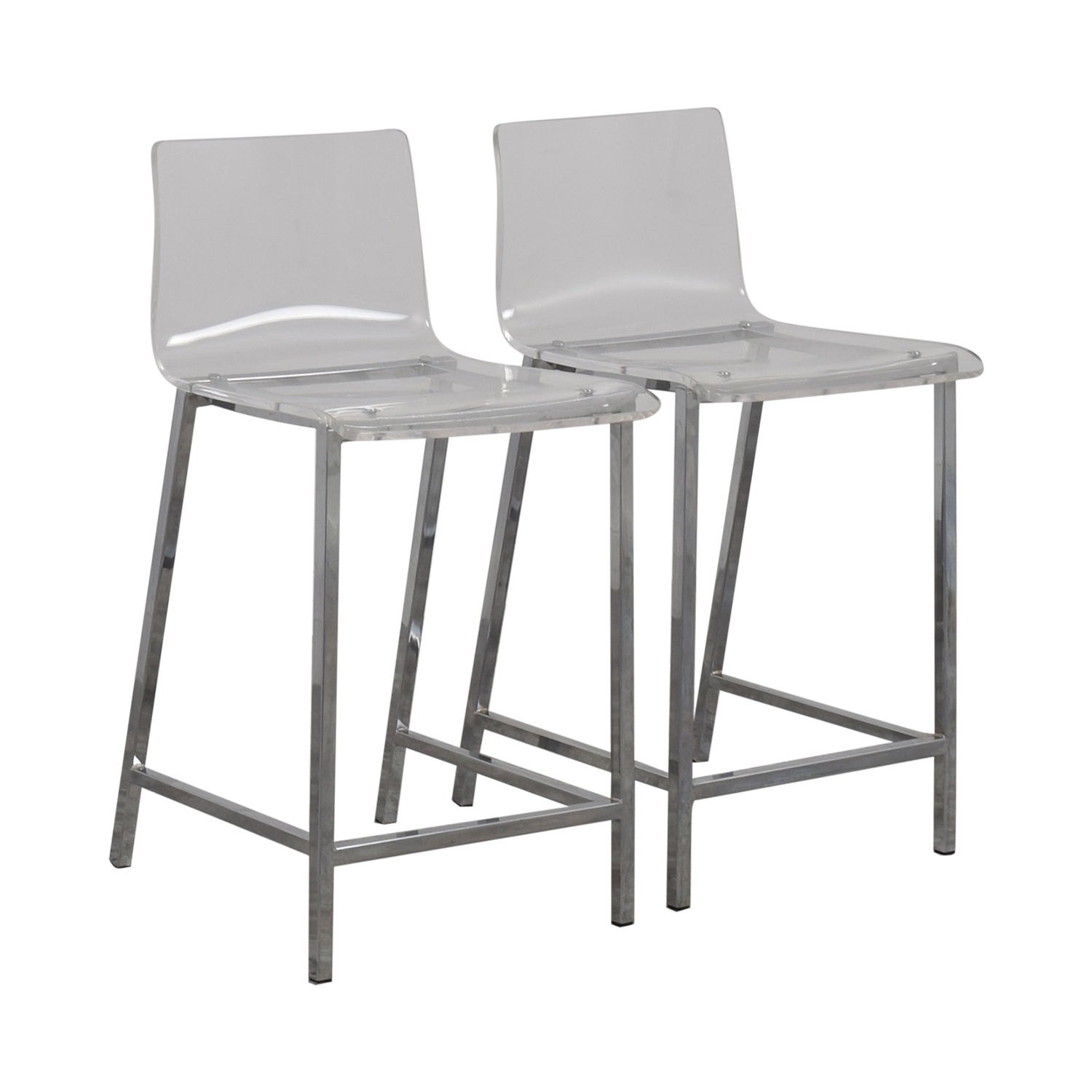 shop CB2 Clear Acrylic Bar Stools CB2 Chairs