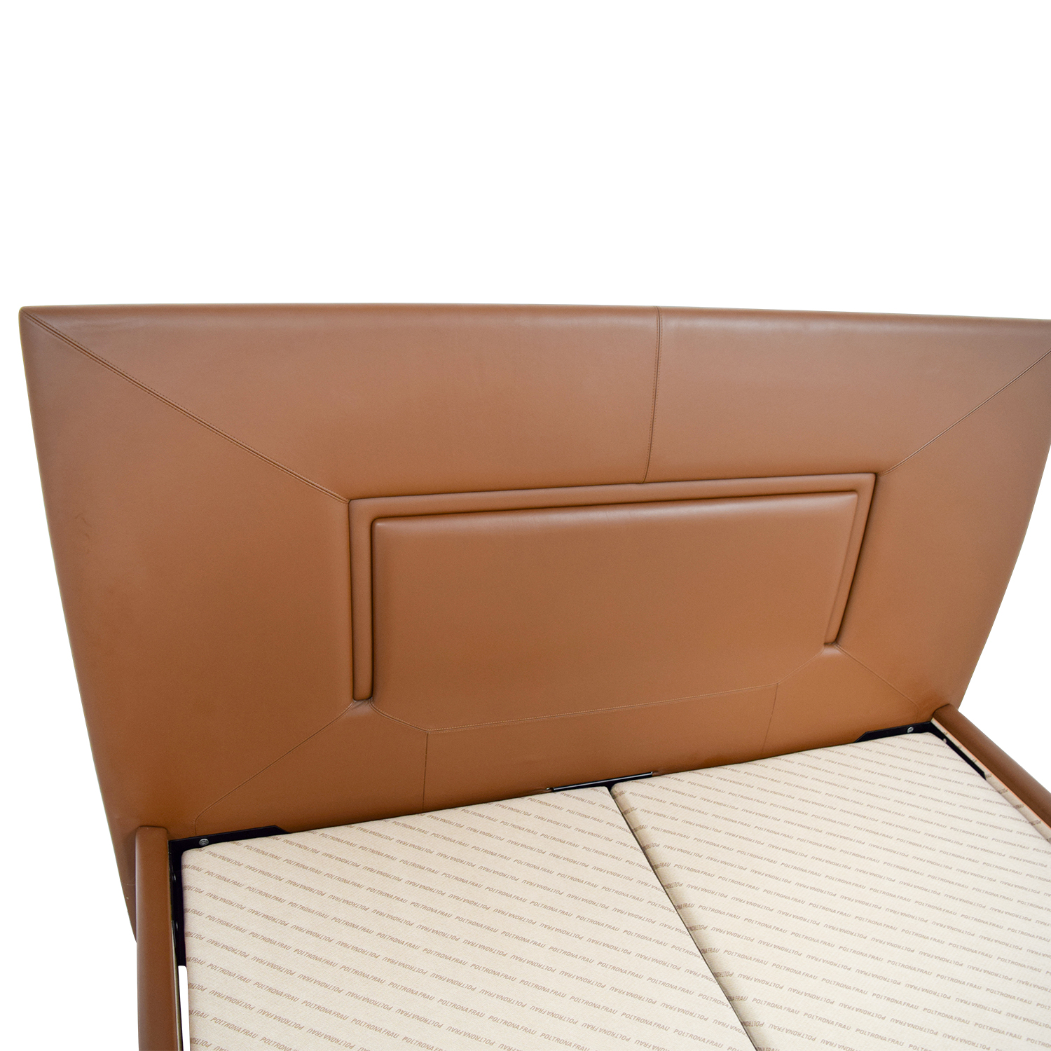 Aurora Uno Aurora Uno Brown Leather Queen Bed Frame on sale