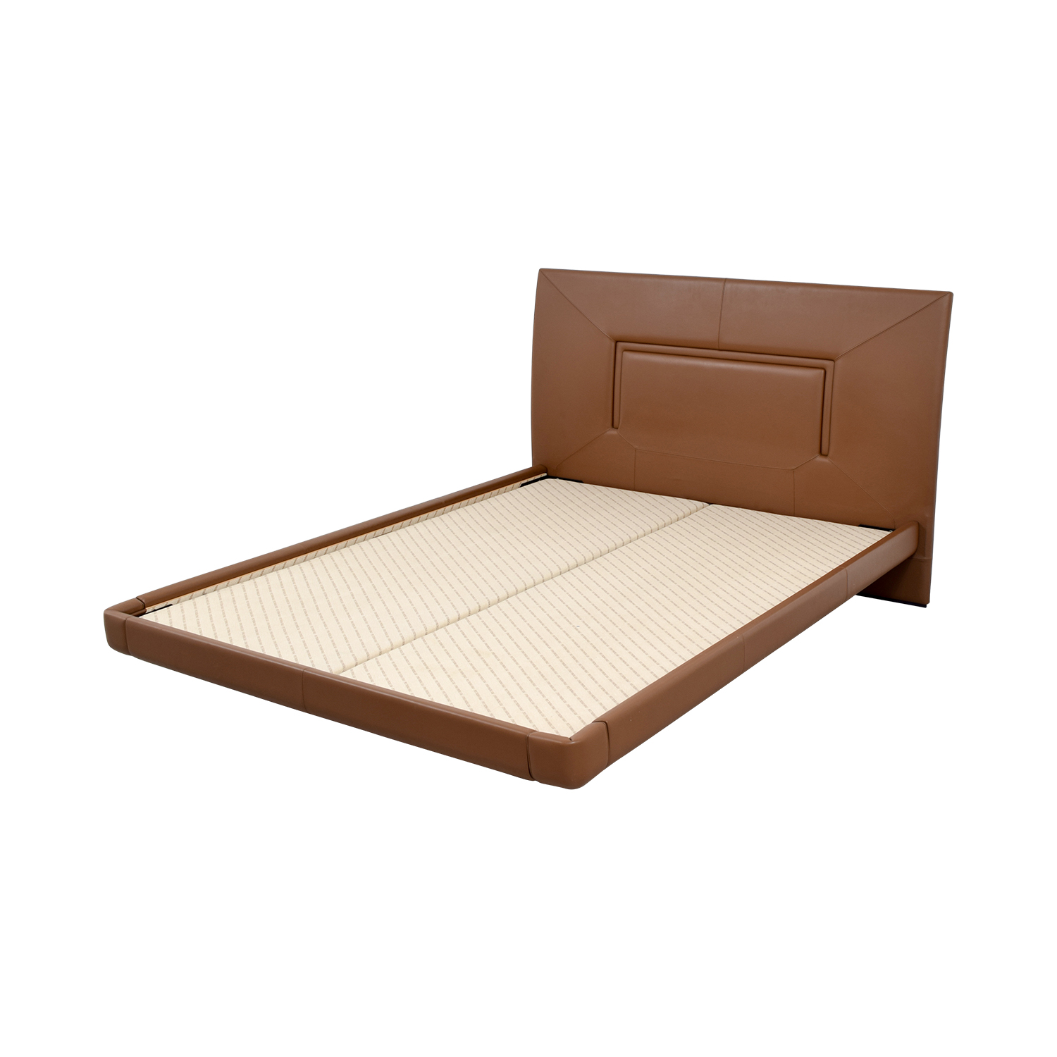 Aurora Uno Aurora Uno Brown Leather Queen Bed Frame nj