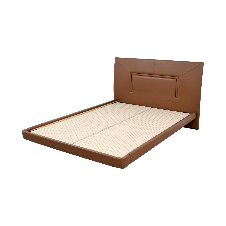 Aurora Uno Aurora Uno Brown Leather Queen Bed Frame nj