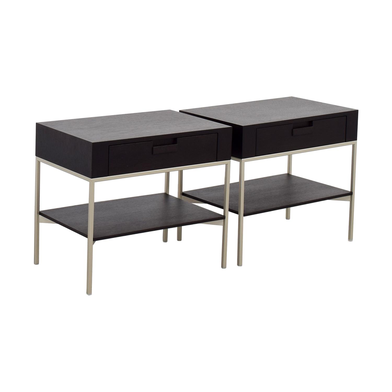 B&B Italia B&B Italia - Max Alto Dark Wood Side Tables nj