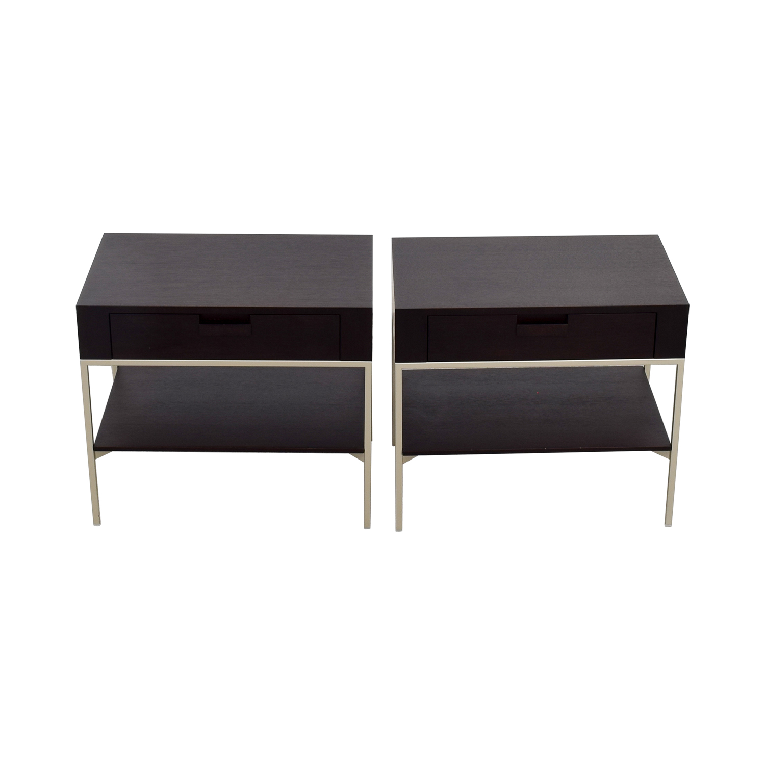 52% OFF B&B Italia B&B Italia Max Alto Dark Wood Side Tables