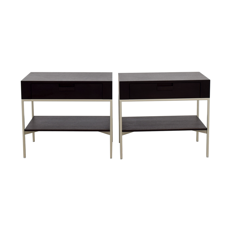 shop B&B Italia - Max Alto Dark Wood Side Tables B&B Italia