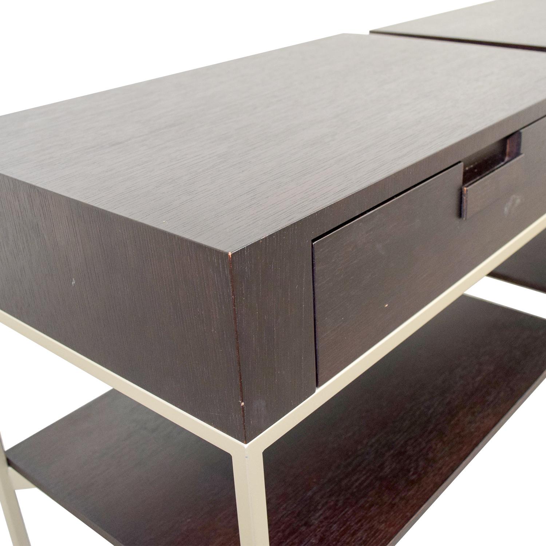 B&B Italia B&B Italia - Max Alto Dark Wood Side Tables dimensions