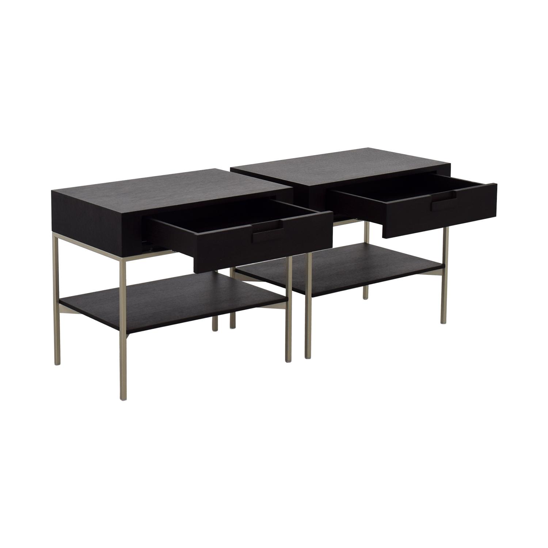 B&B Italia B&B Italia - Max Alto Dark Wood Side Tables for sale