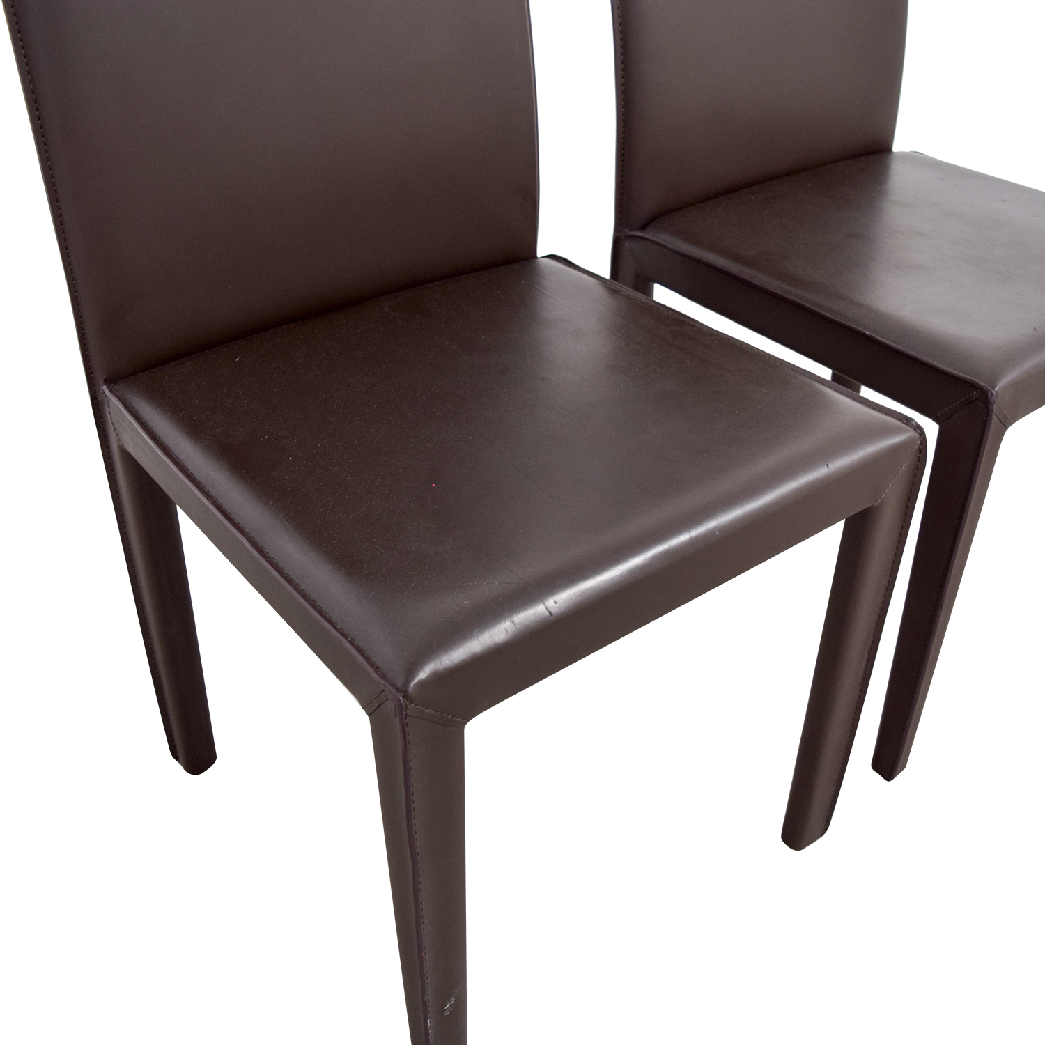 Maria Yee Mondo Brown Leather Dining Chairs Maria Yee