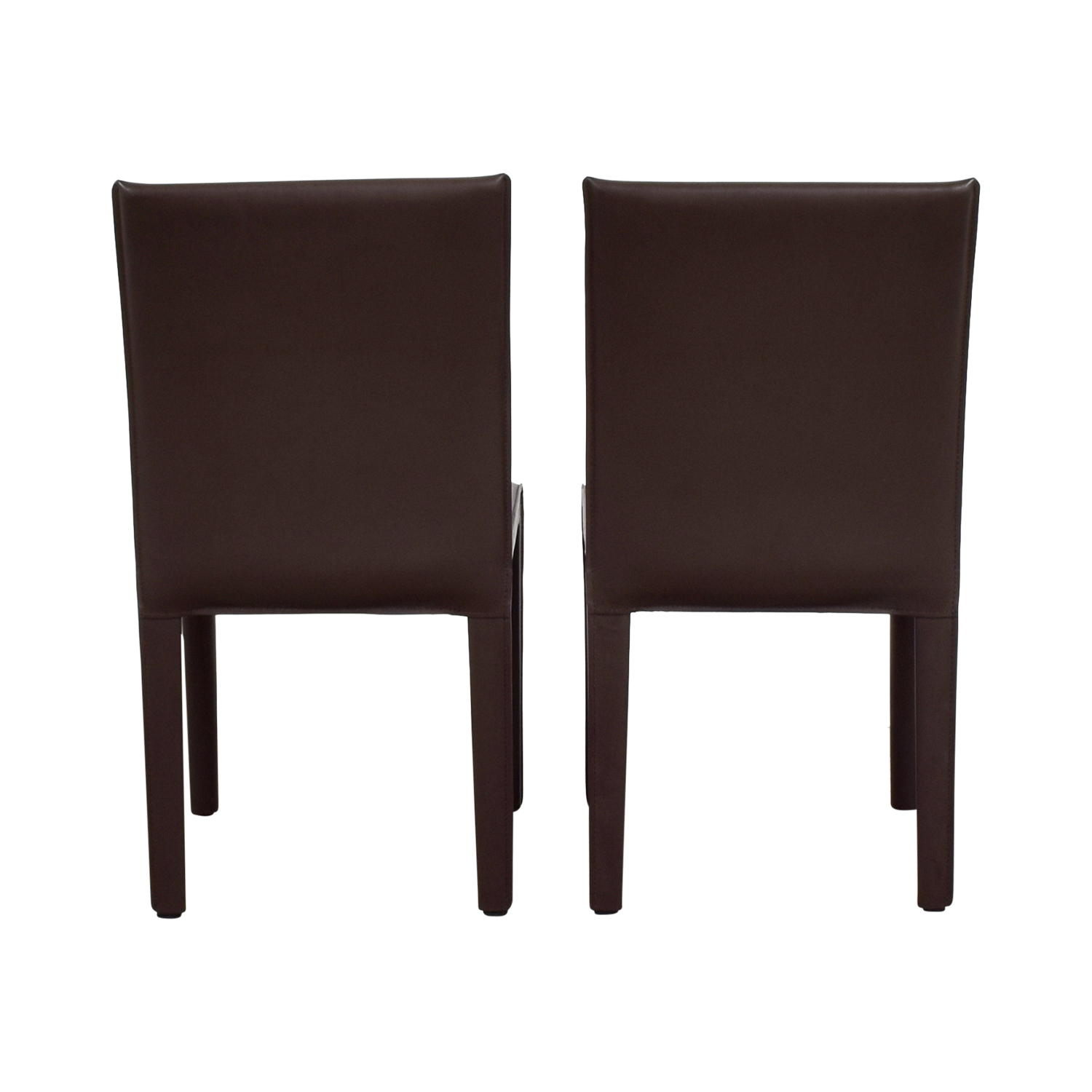 Maria Yee Maria Yee Mondo Brown Leather Dining Chairs used